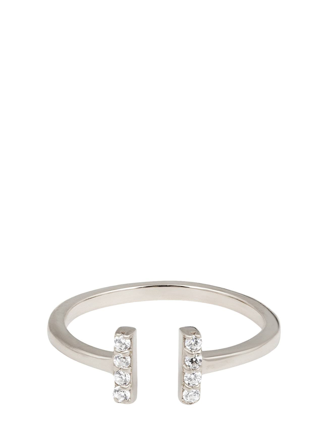 Syster P Strict Sparkle Bar Ring Silver