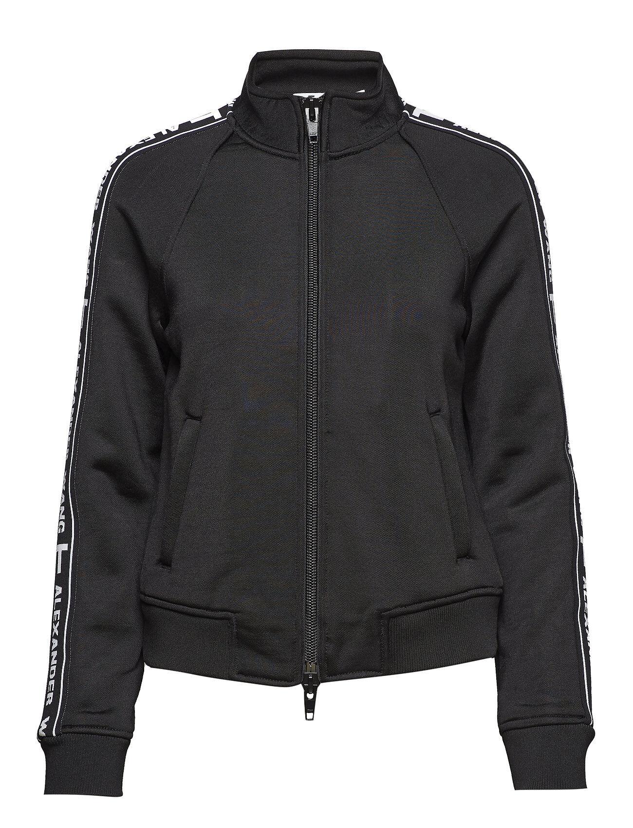 T by Alexander Wang Sleek French Terry Full-Zip Shrunken Track Jacket