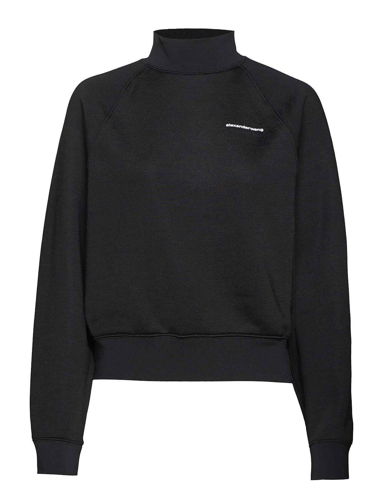 T by Alexander Wang Heavy Sleek French Terry Turtle Neck Sweatshirt