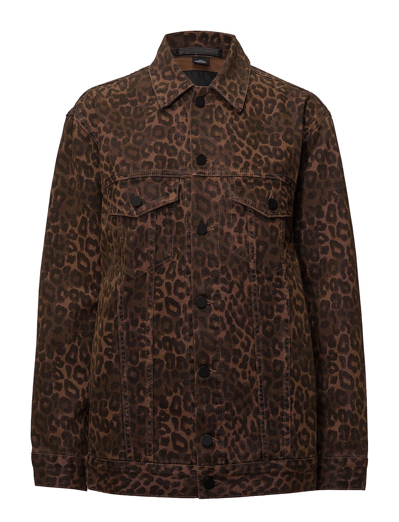 T by Alexander Wang Daze Jacket Tan Leopard Print