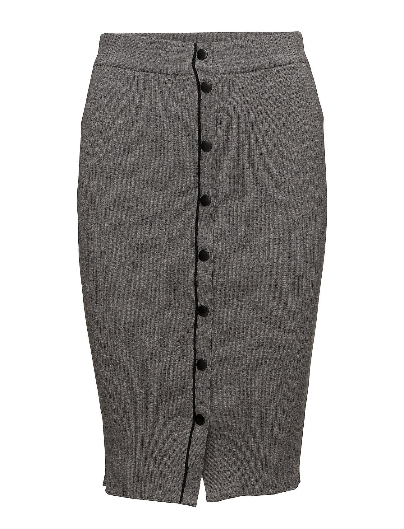 T by Alexander Wang Skinny Rib Pencil Skirt W/ Snap Detail