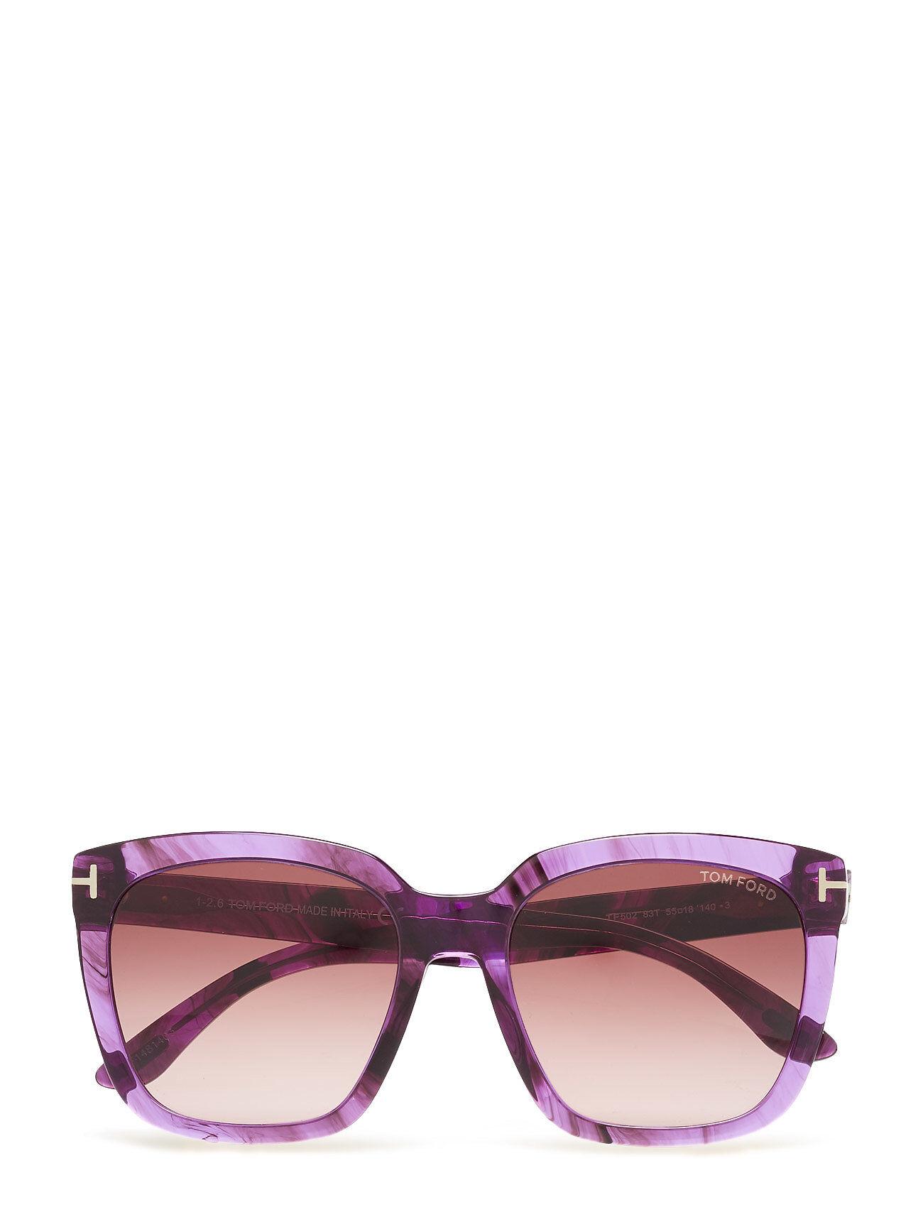 Image of Tom Ford Sunglasses Tom Ford Amarra Wayfarer Aurinkolasit Liila Tom Ford Sunglasses