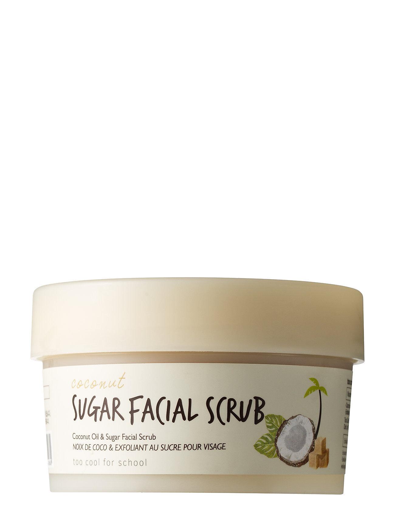 Too Cool For School Coconut Sugar Facial Scrub Kuorinta-aine Kasvojen Kuorinta Nude Too Cool For School