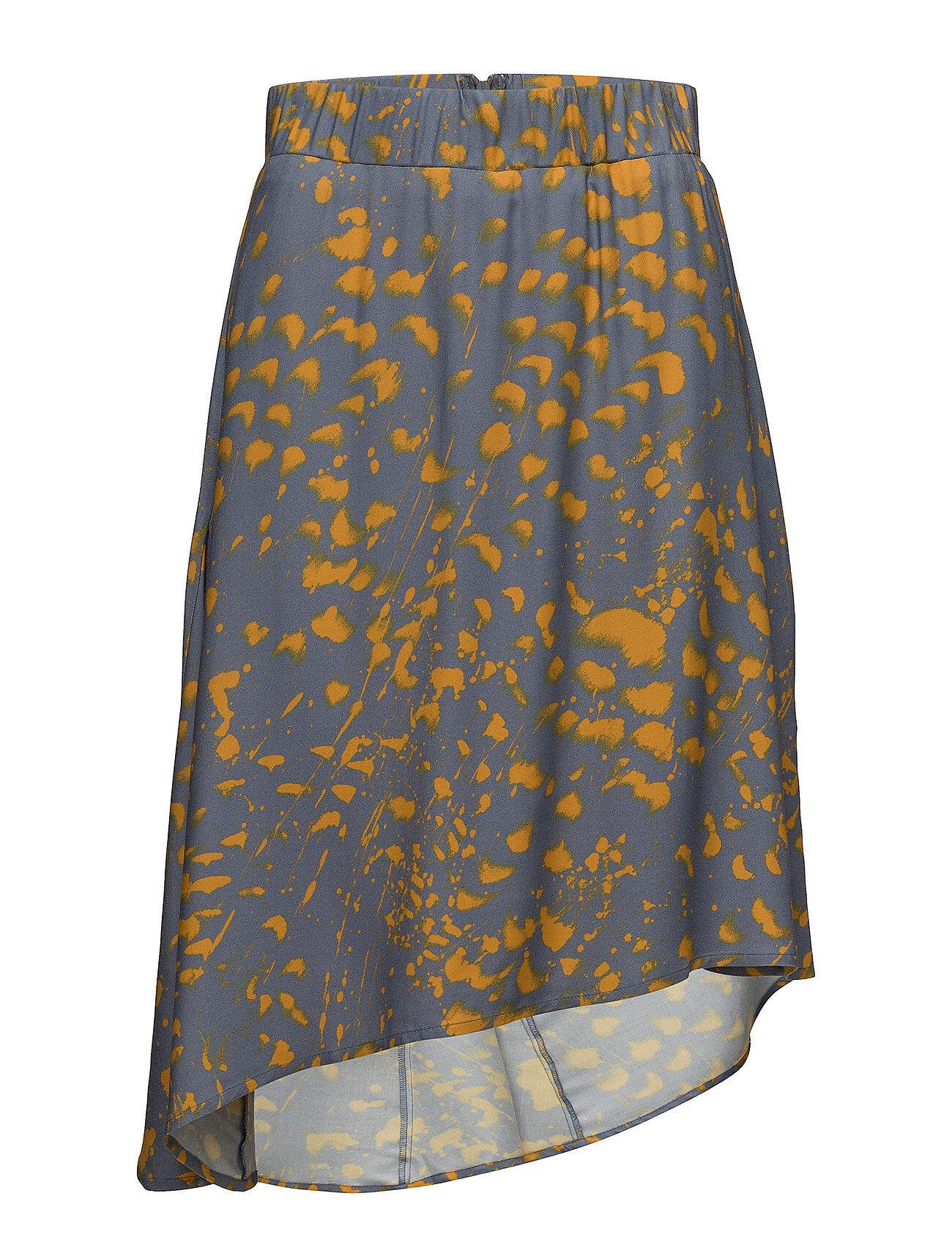 Valerie Slip Skirt Polvipituinen Hame Keltainen Valerie