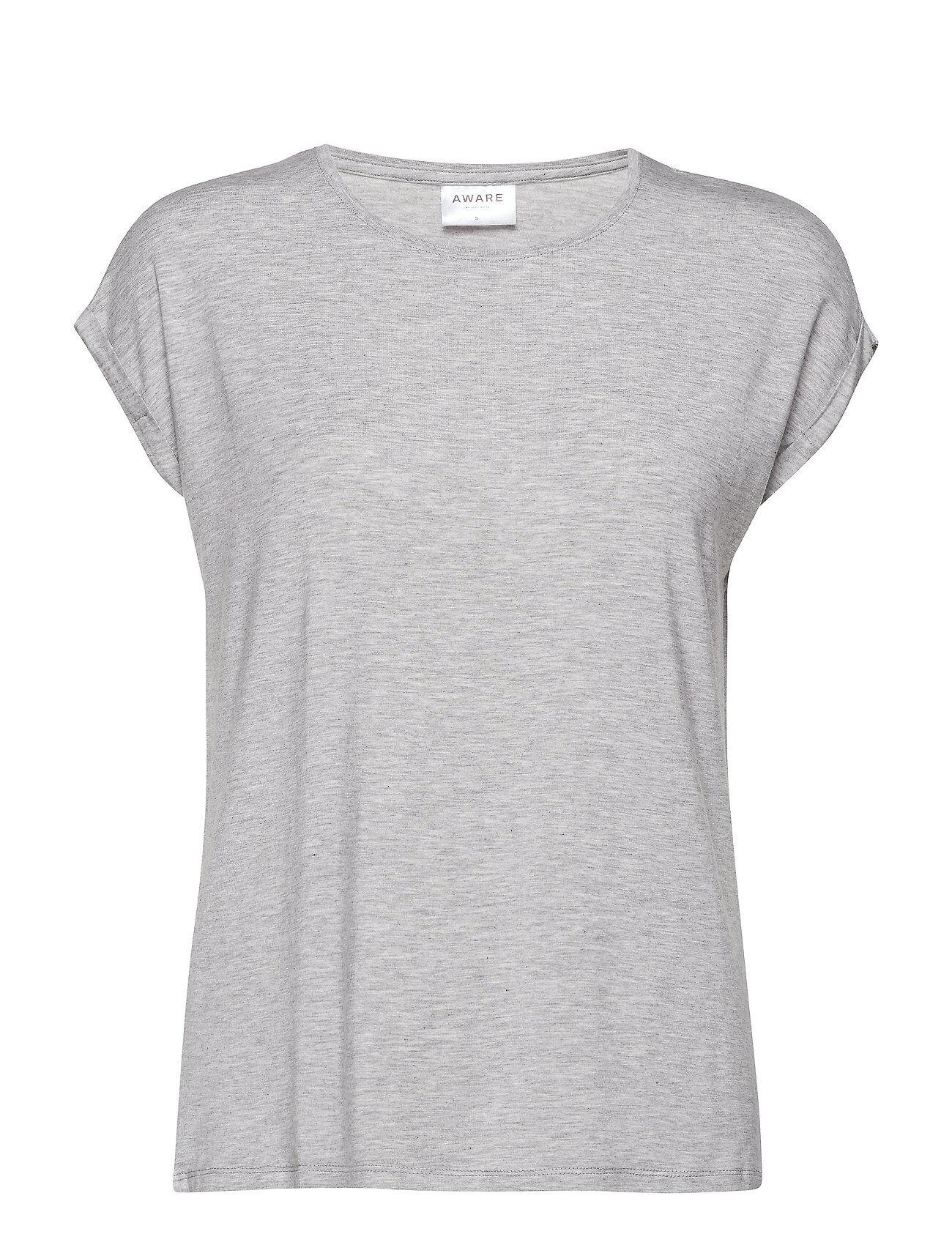 Vero Moda Vmava Plain Ss Top Ga Noos T-shirts & Tops Short-sleeved Harmaa Vero Moda