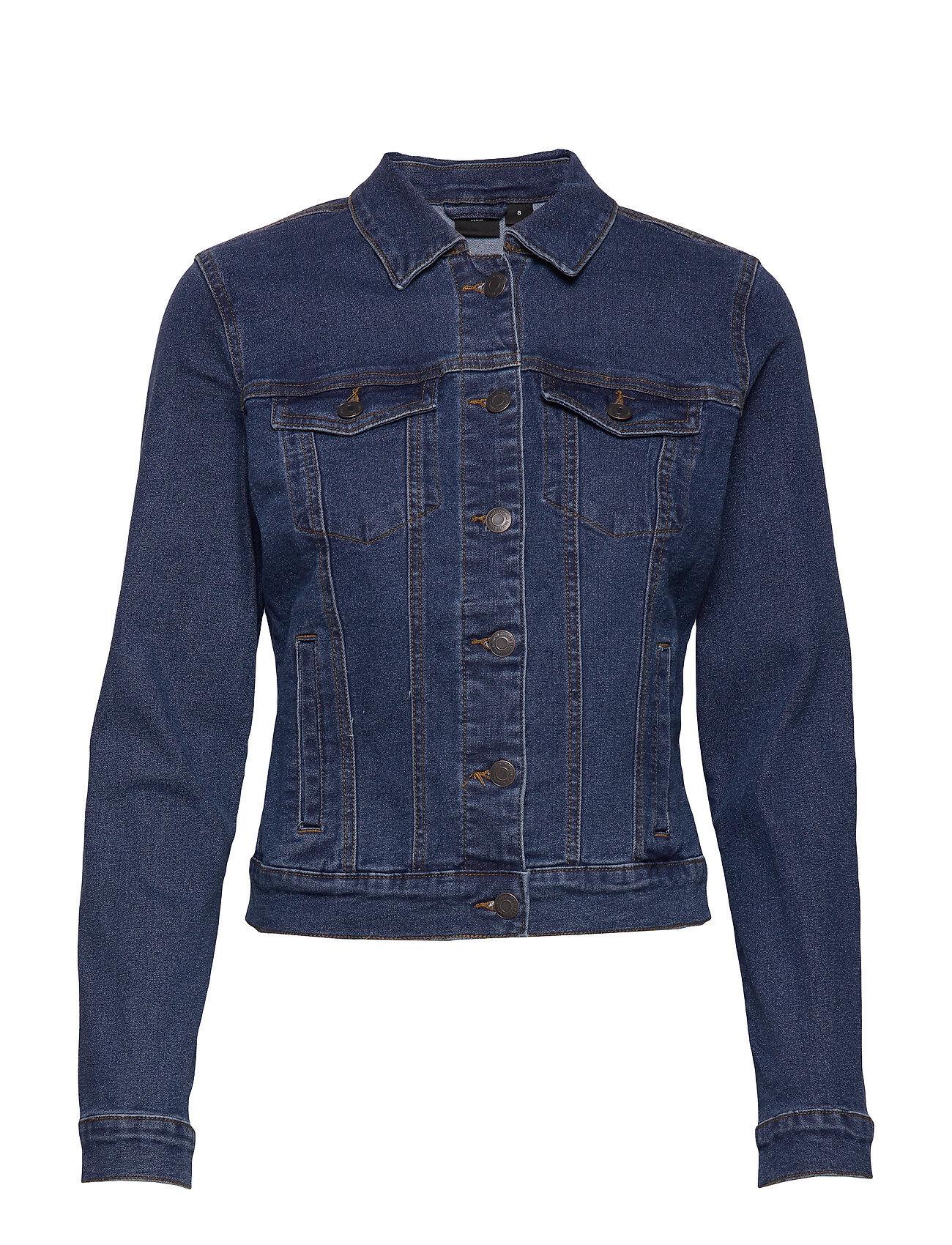 Vero Moda Vmhot Soya Ls Denim Jacket Mix Noos Farkkutakki Denimtakki Sininen Vero Moda