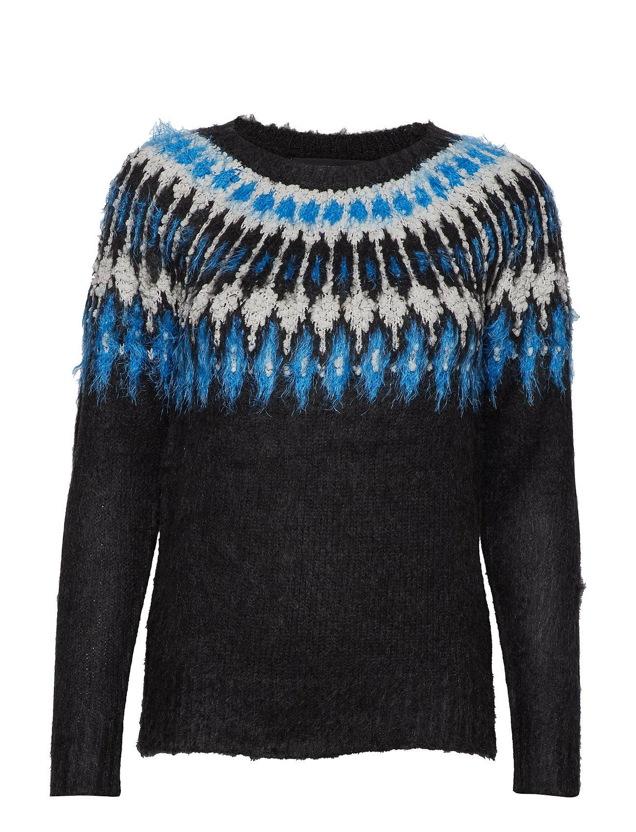 Vero Moda Vmalbany New Ls O-Neck Blouse Neulepaita Sininen Vero Moda