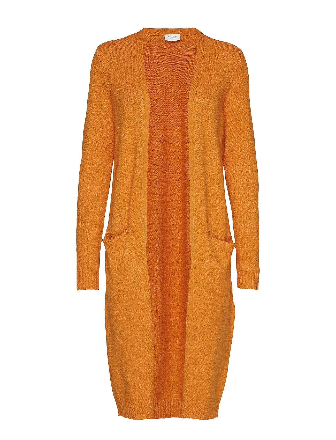 Vila Viril Long L/S Knit Cardigan - Noos Neuletakki Oranssi Vila
