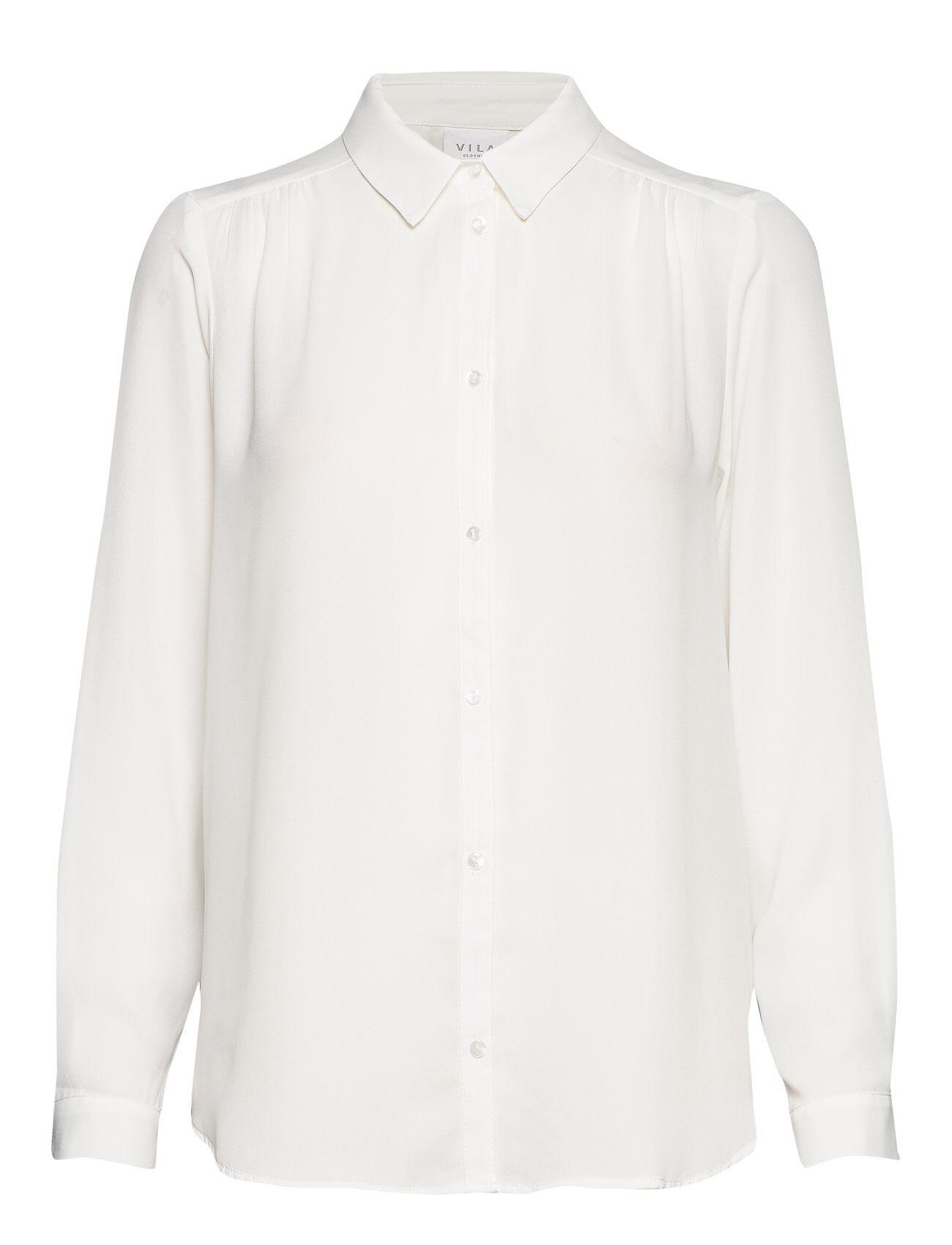 Vila Vilucy L/S Button Shirt - Noos Pitkähihainen Paita Valkoinen Vila