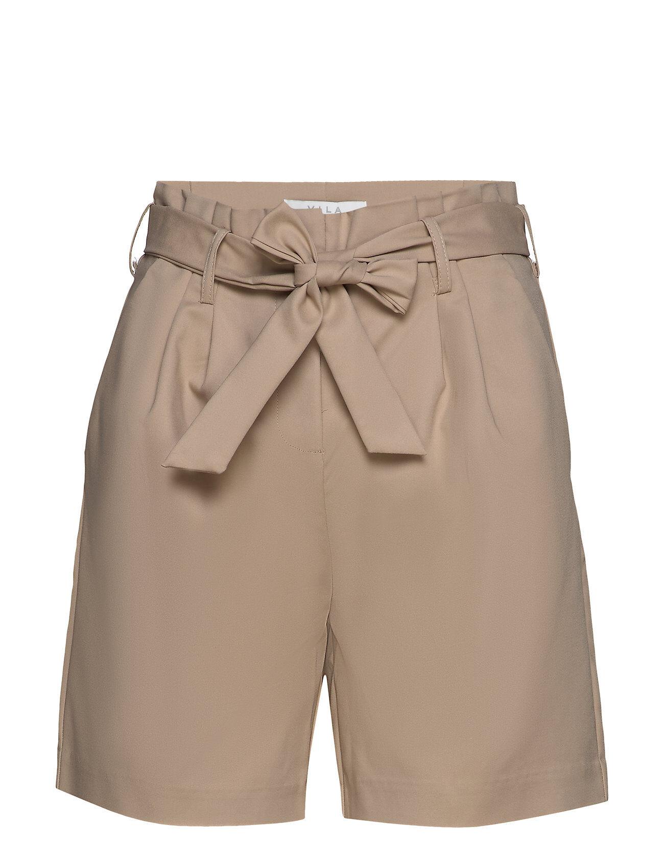 Vila Visofina Hwre Shorts Shorts Paper Bag Shorts Beige Vila