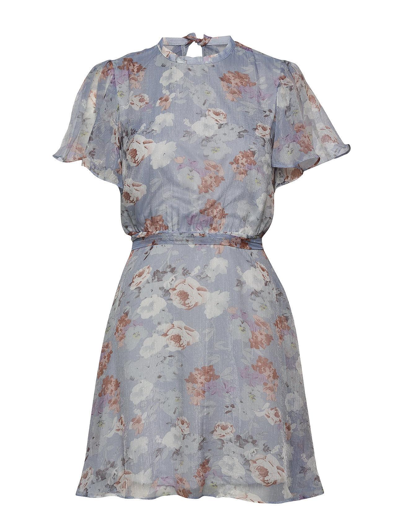 Vila Viparisa S/S Dress/Dc Lyhyt Mekko Sininen Vila