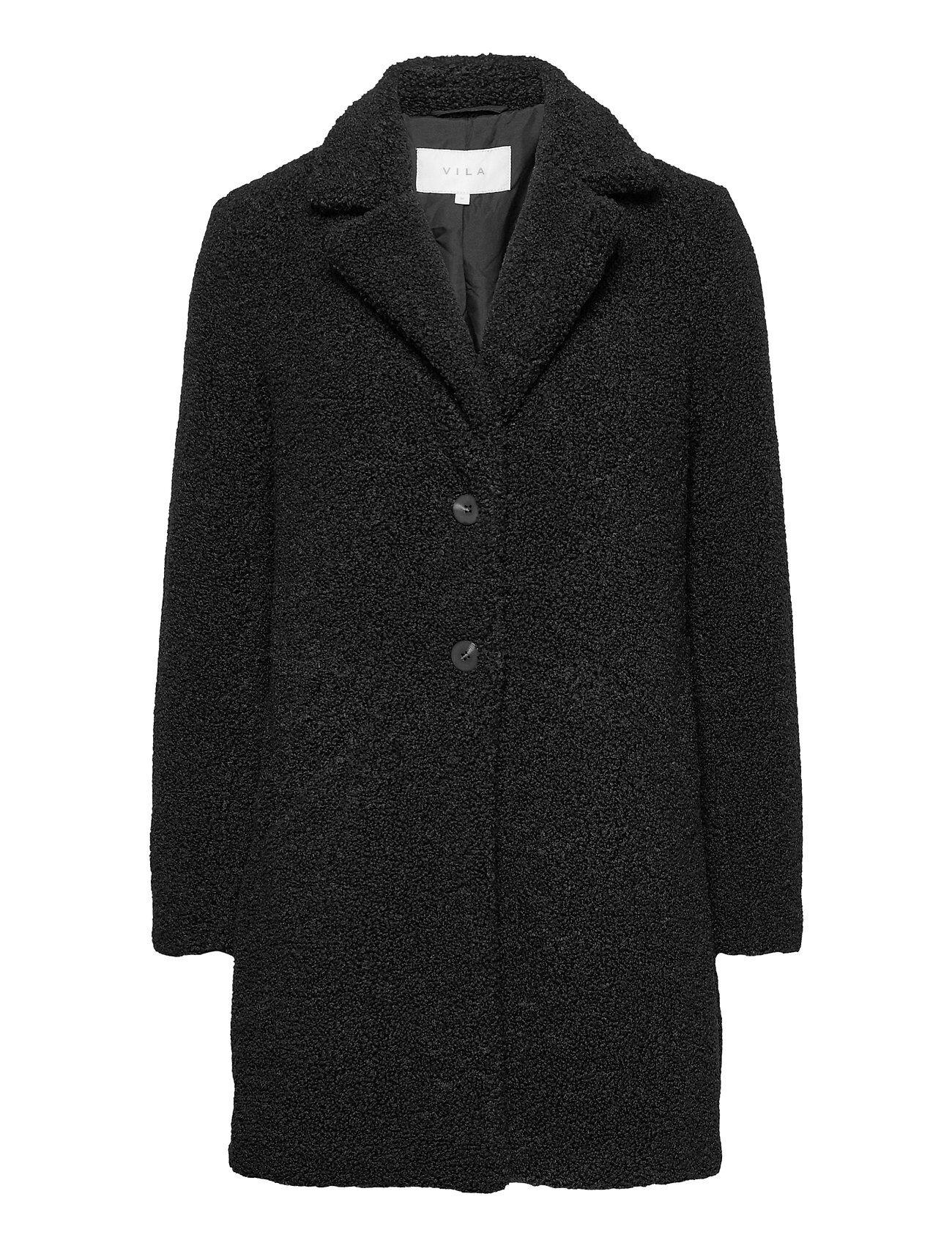 Vila Viliosi Teddy Coat/Su - Noos Outerwear Faux Fur Musta Vila