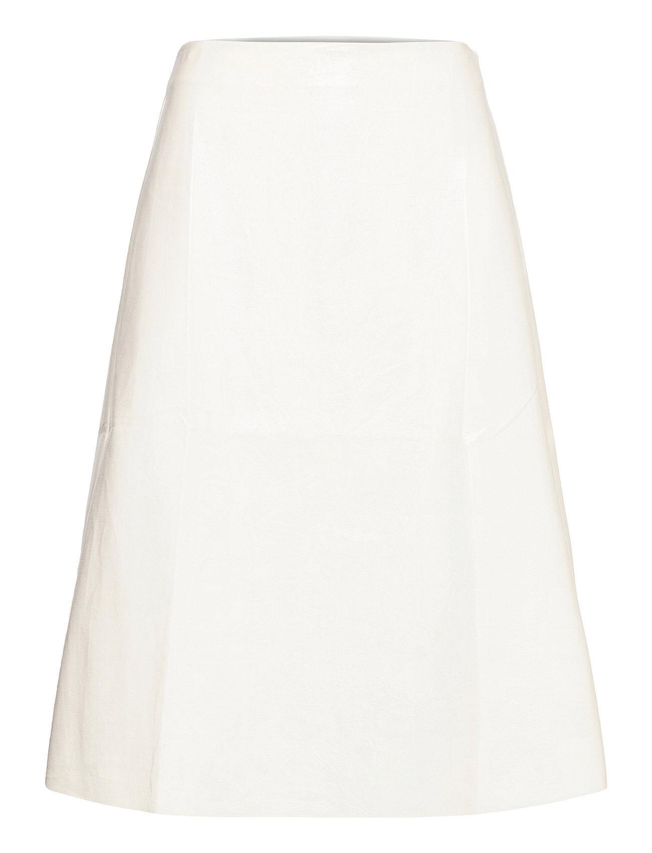 Vila Visiltas Coated Nw Skirt Polvipituinen Hame Harmaa Vila