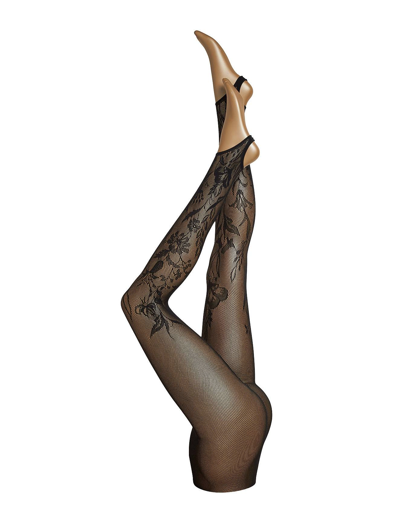 Wolford Wildflower Net Stirrup Tights