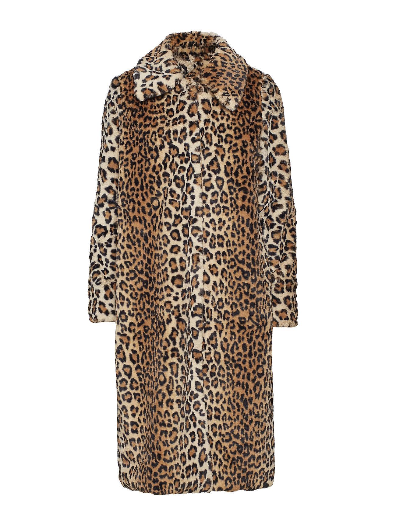 YAS leo Faux Fur Coat Outerwear Faux Fur Ruskea