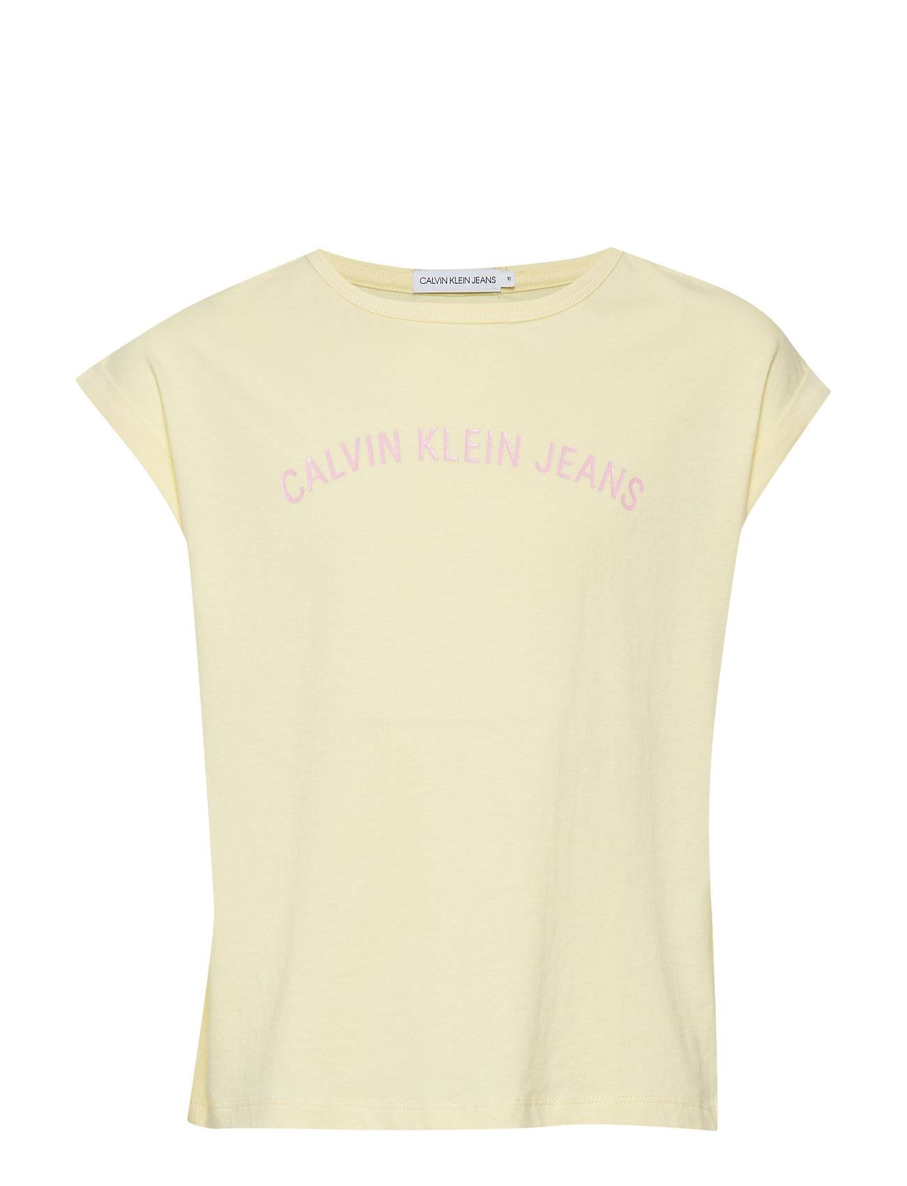 Image of Calvin Logo Loose Fit Oco T T-shirts Short-sleeved Keltainen Calvin Klein