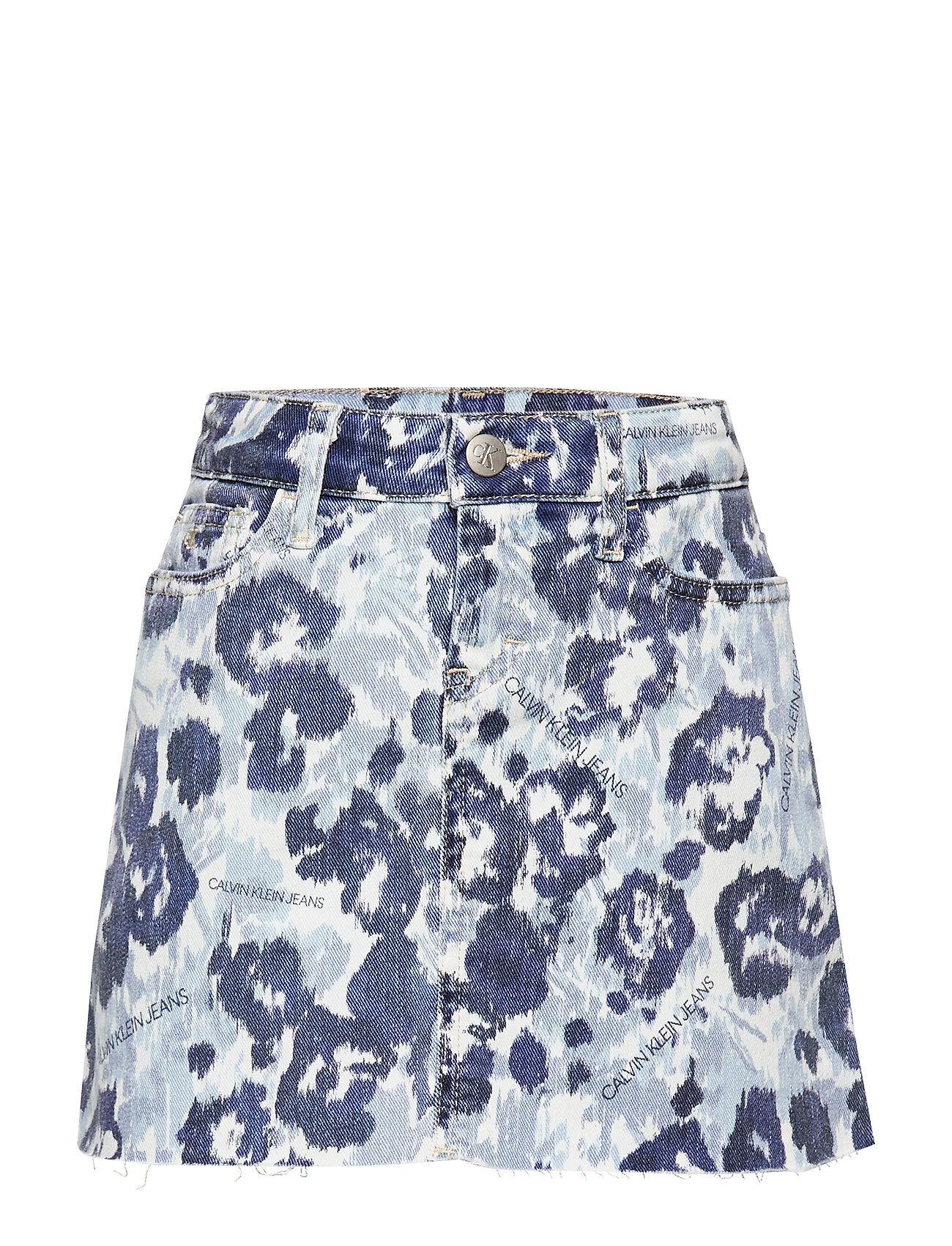 Calvin A-Line Skirt W Flower Bl Com Hame Sininen Calvin Klein