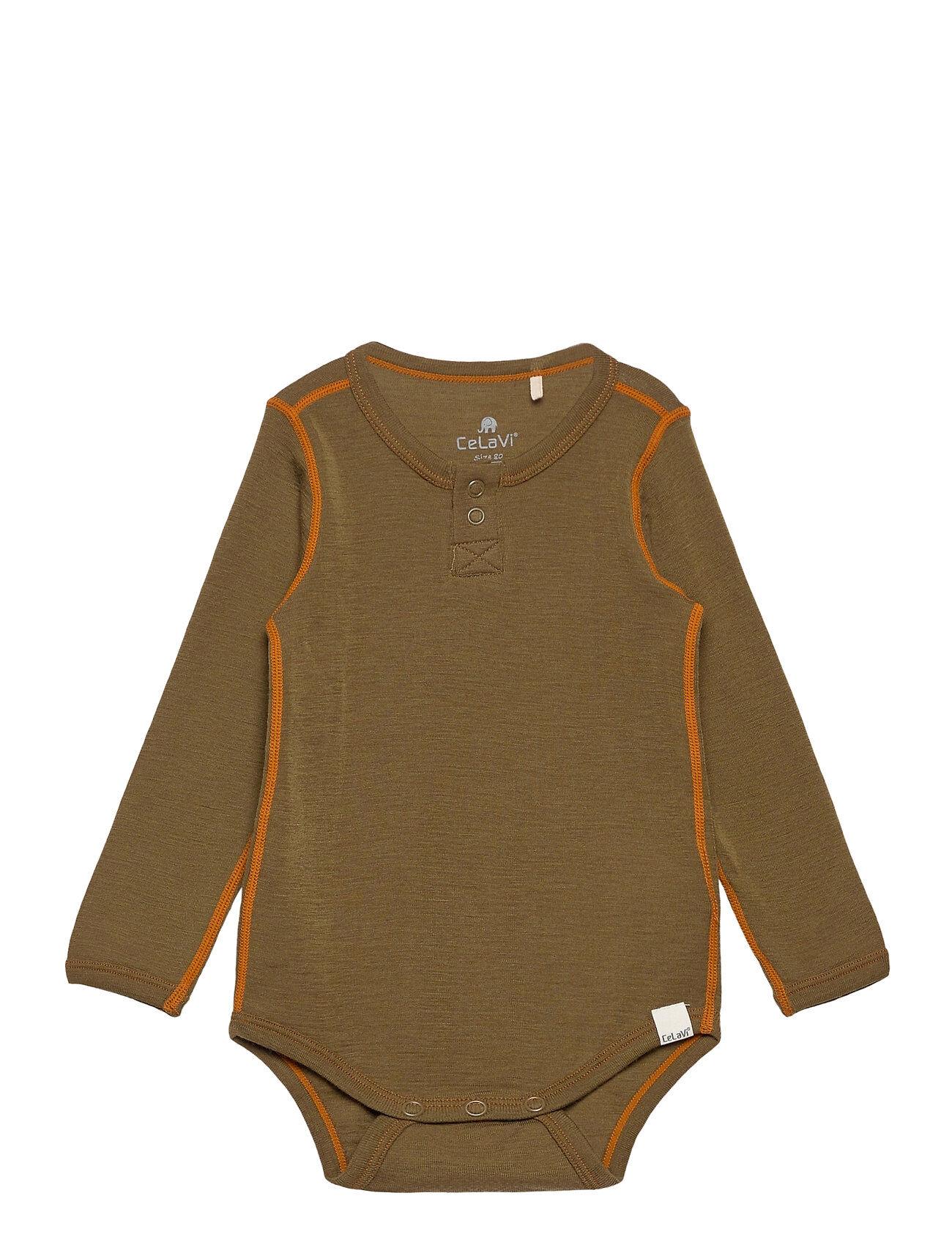 CeLaVi Body Ls - Solid Bodies Long-sleeved Ruskea CeLaVi