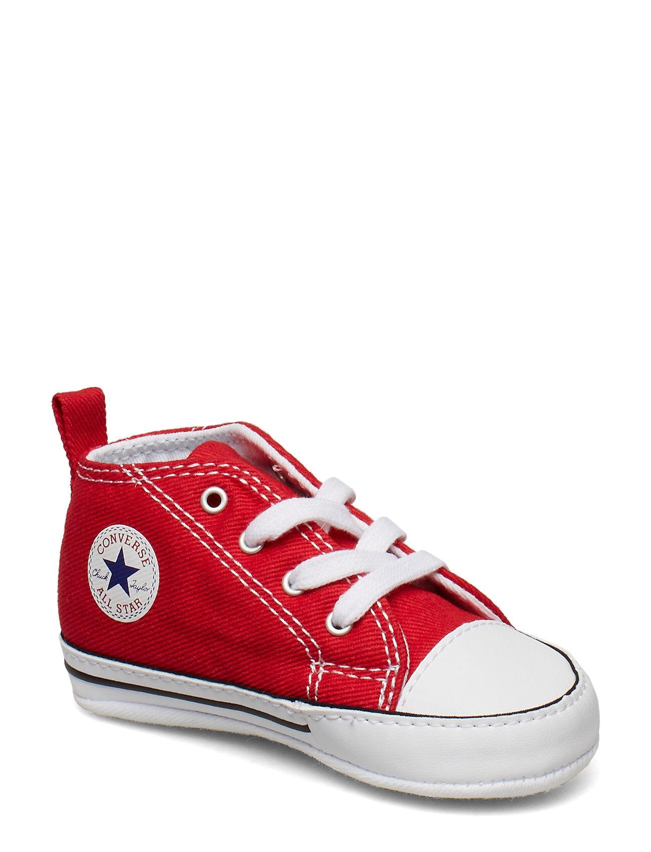Image of CONVERSE First Star Hi Tennarit Sneakerit Kengät Punainen CONVERSE