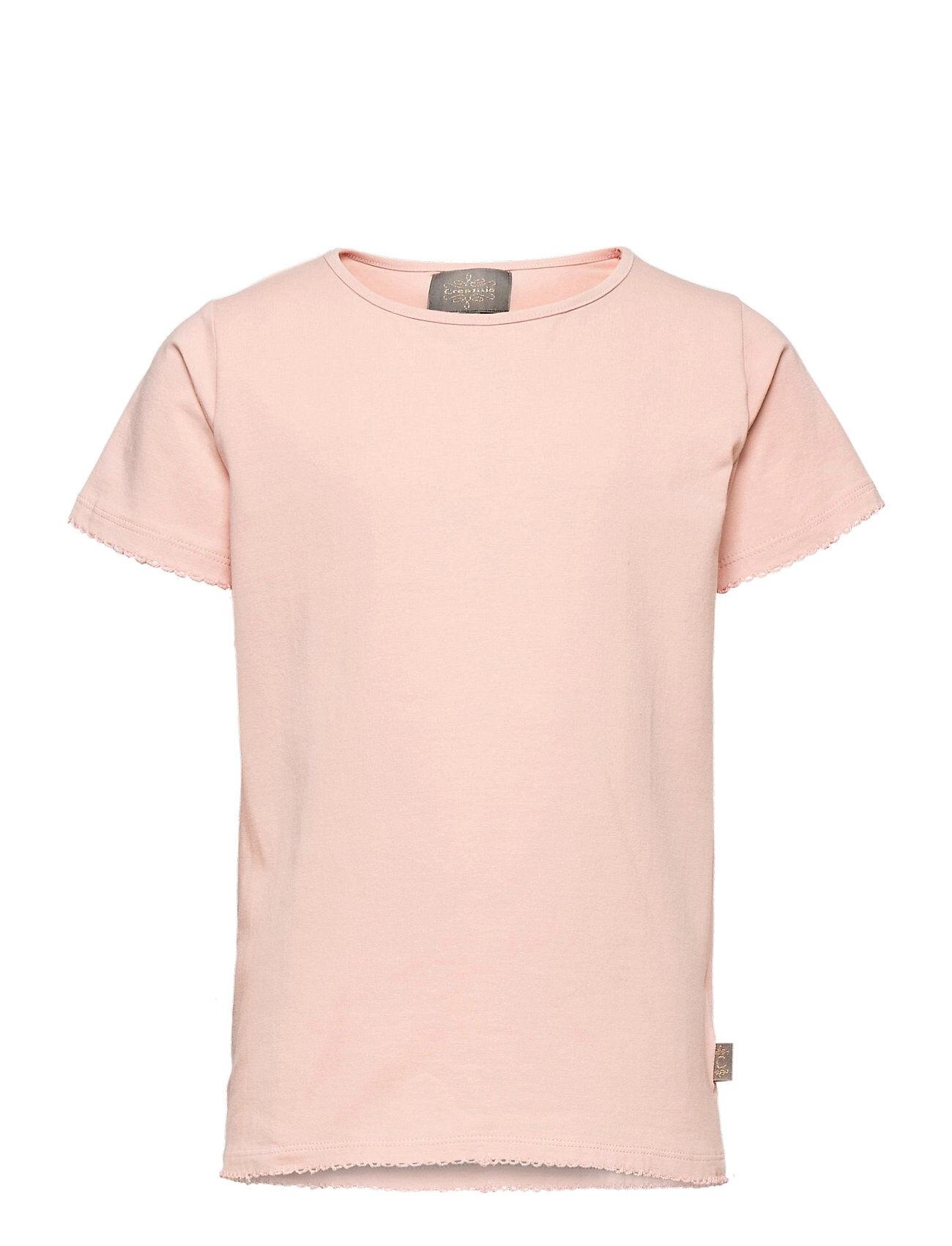 Creamie T-Shirt Ss T-shirts Short-sleeved Vaaleanpunainen Creamie