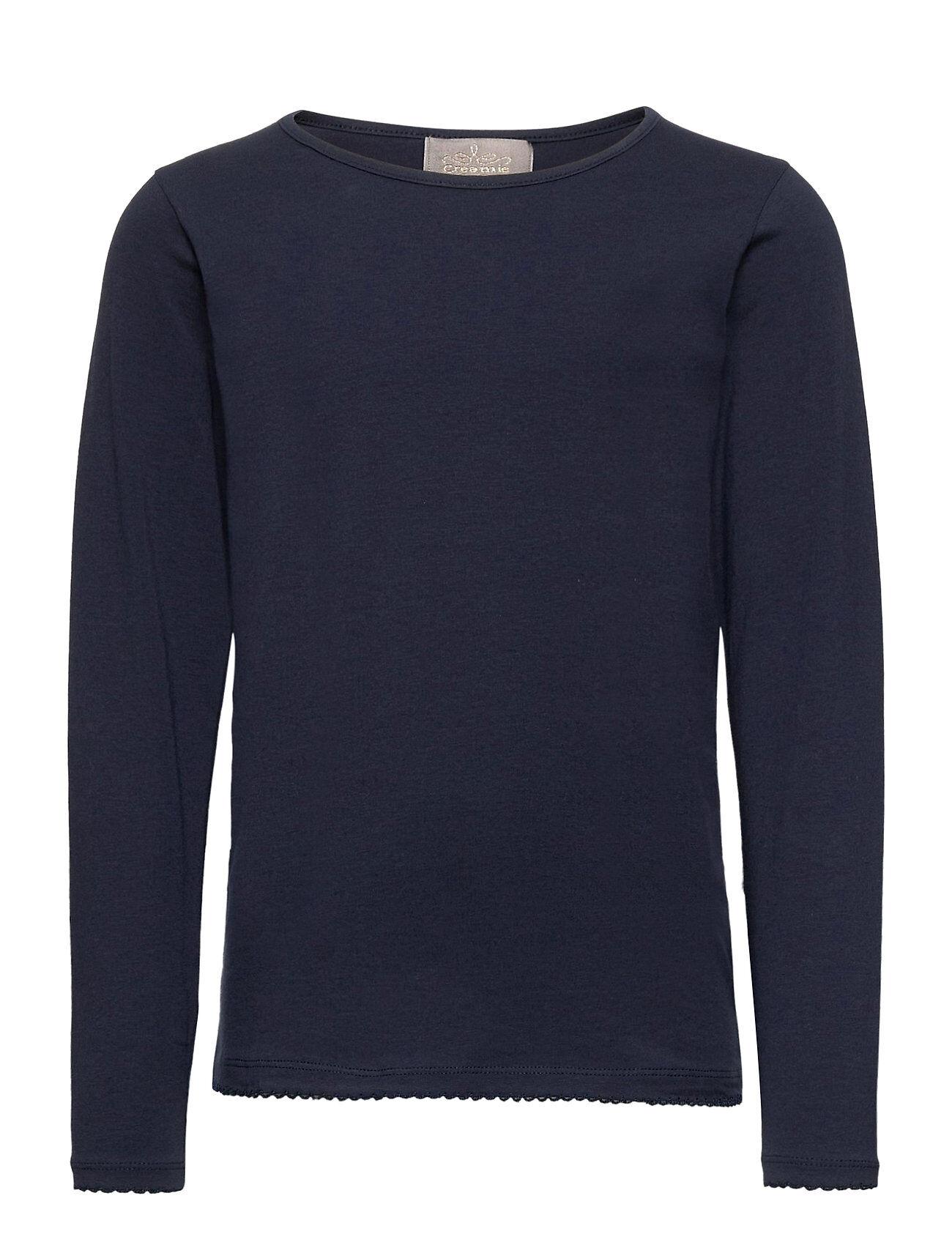 Creamie T-Shirt Ls T-shirts Long-sleeved T-shirts Sininen Creamie
