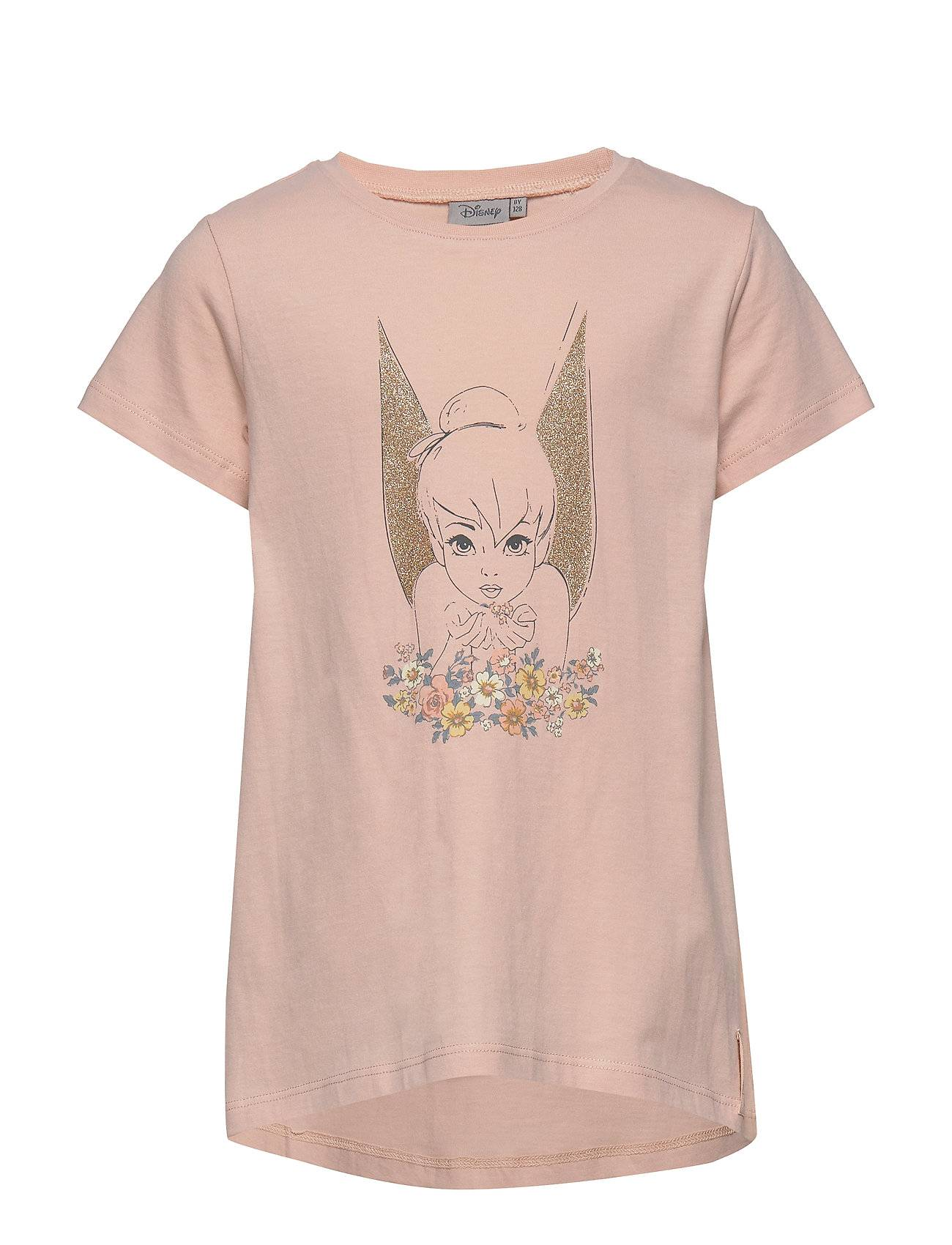 Disney T-Shirt Tinker Bell Golden Wings T-shirts Short-sleeved Vaaleanpunainen Disney By Wheat