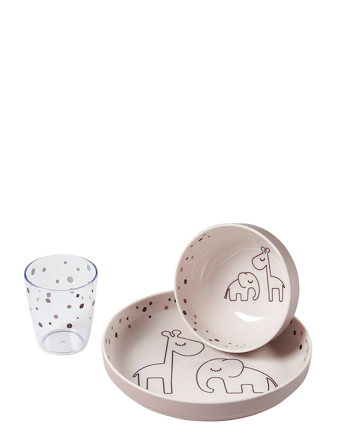 Done by Deer Yummy Mini Dinner Set Dreamy Dots Home Meal Time Dinner Sets Punainen D By Deer