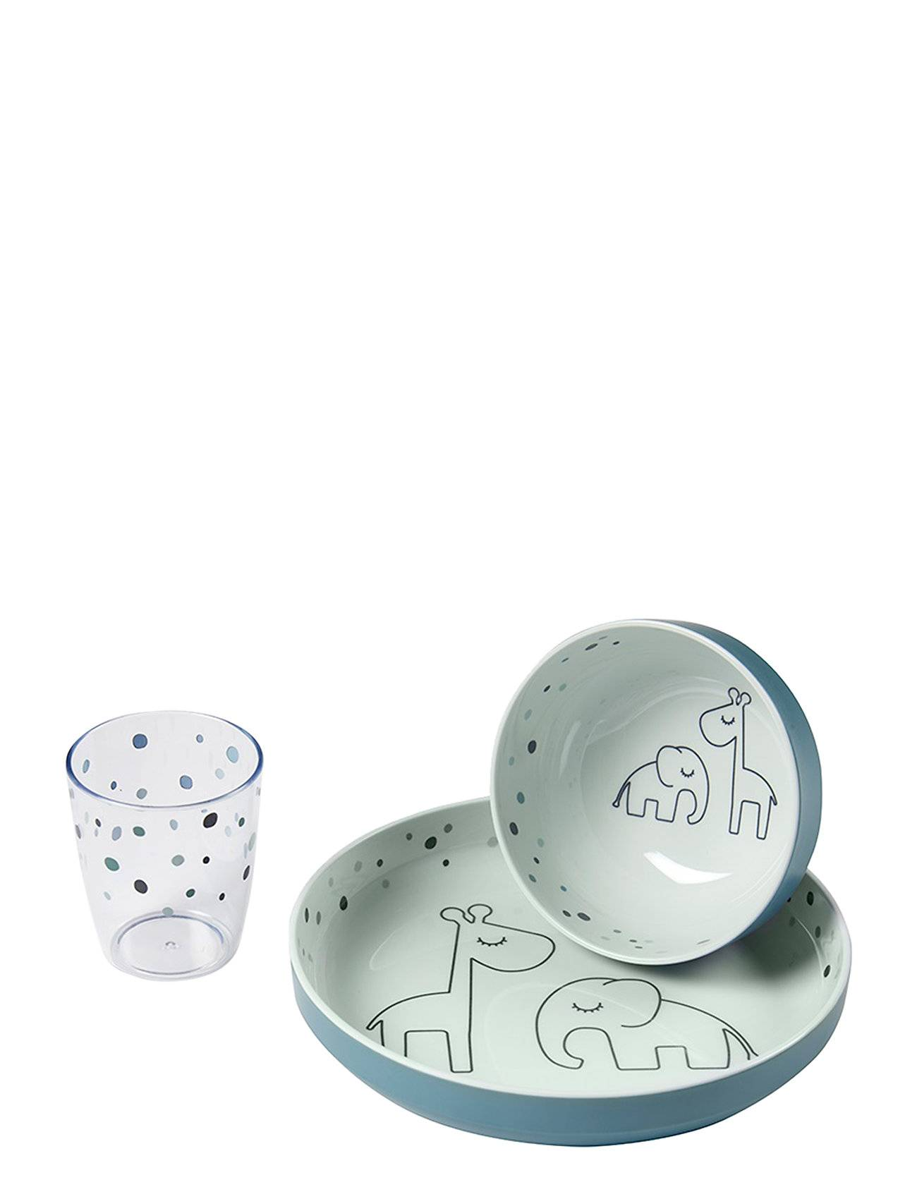 Done by Deer Yummy Mini Dinner Set Dreamy Dots Home Meal Time Dinner Sets Valkoinen D By Deer