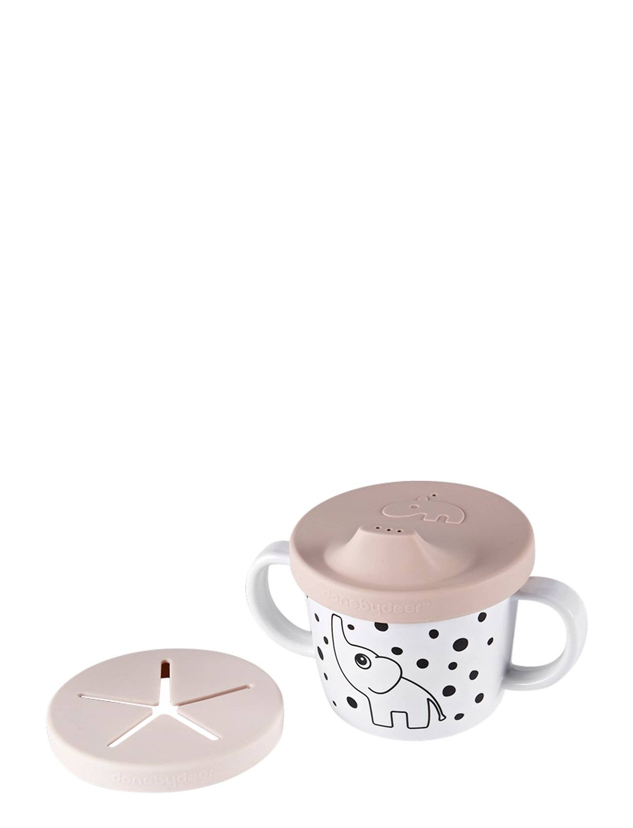 Done by Deer Silic Spout/Snack Cup Elphee Home Meal Time Cups & Mugs Punainen D By Deer