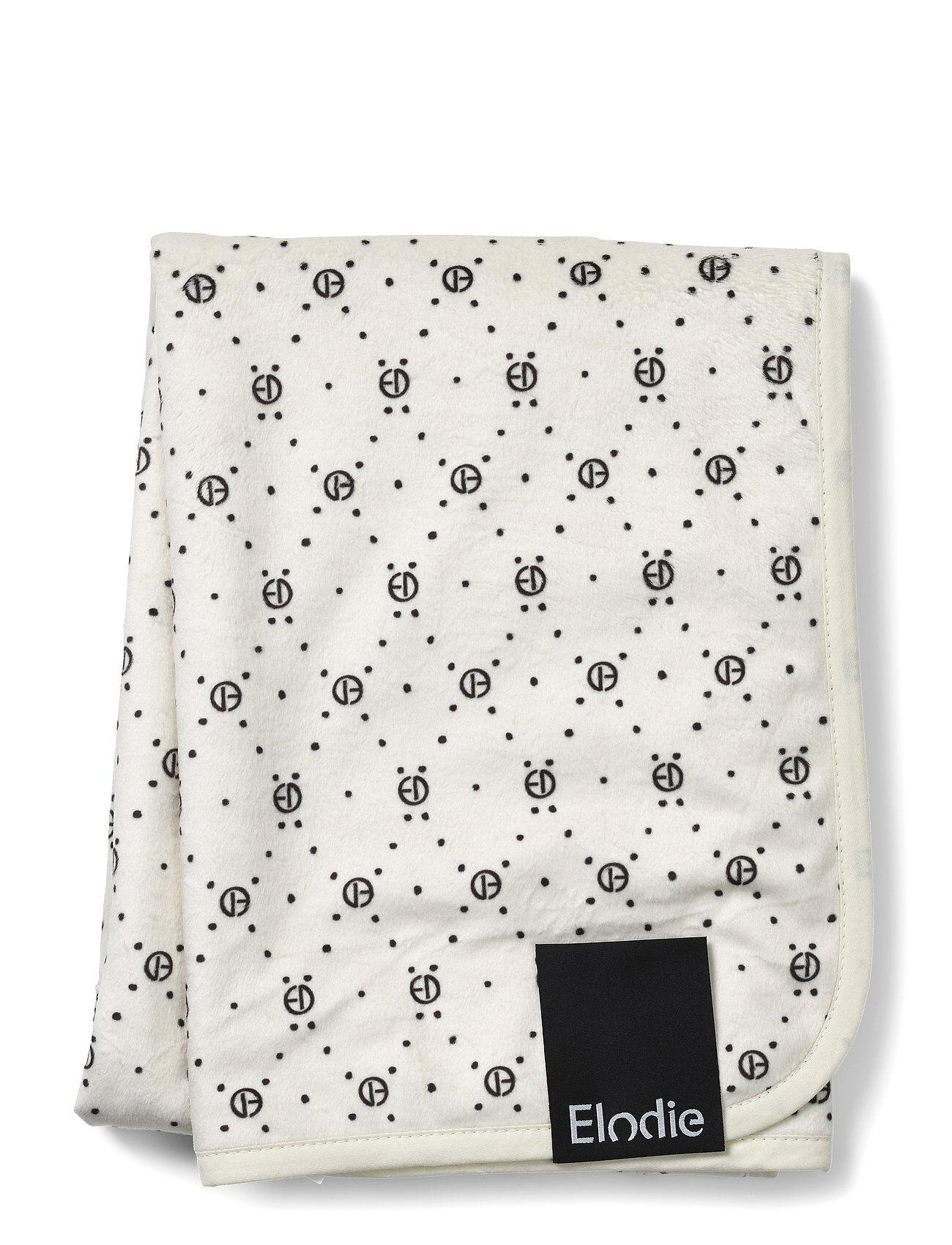 Elodie Details Pearl Velvet Blanket - Monogram Home Sleep Time Blankets & Quilts Valkoinen Elodie Details