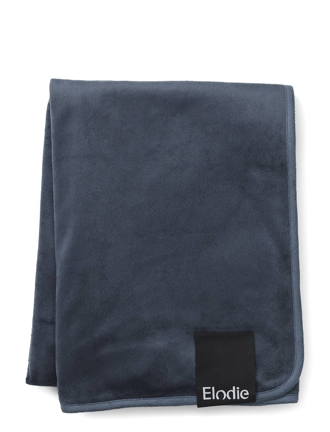 Elodie Details Pearl Velvet Blanket - Juniper Blue Home Sleep Time Blankets & Quilts Sininen Elodie Details