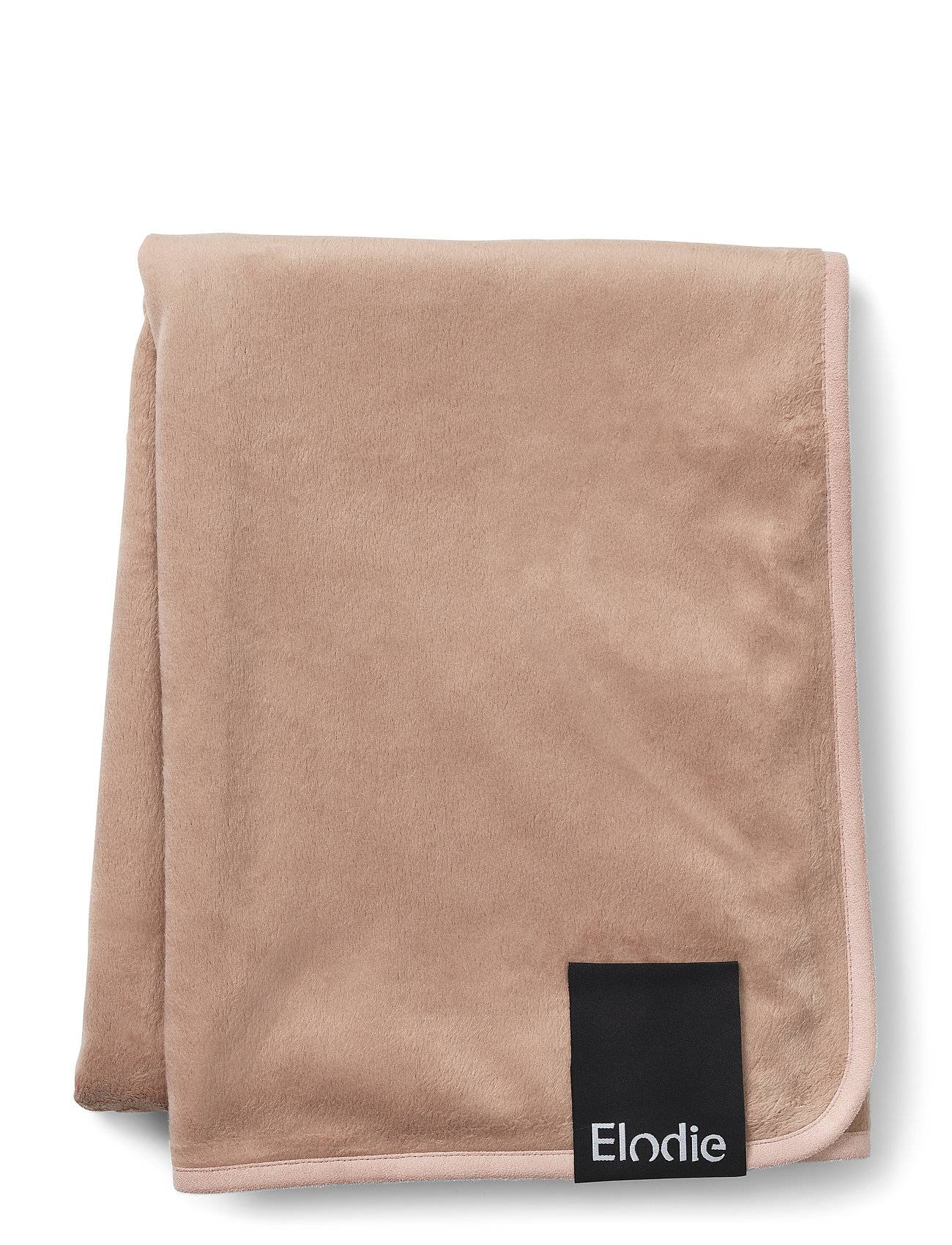 Elodie Details Pearl Velvet Blanket - Faded Rose Home Sleep Time Blankets & Quilts Vaaleanpunainen Elodie Details