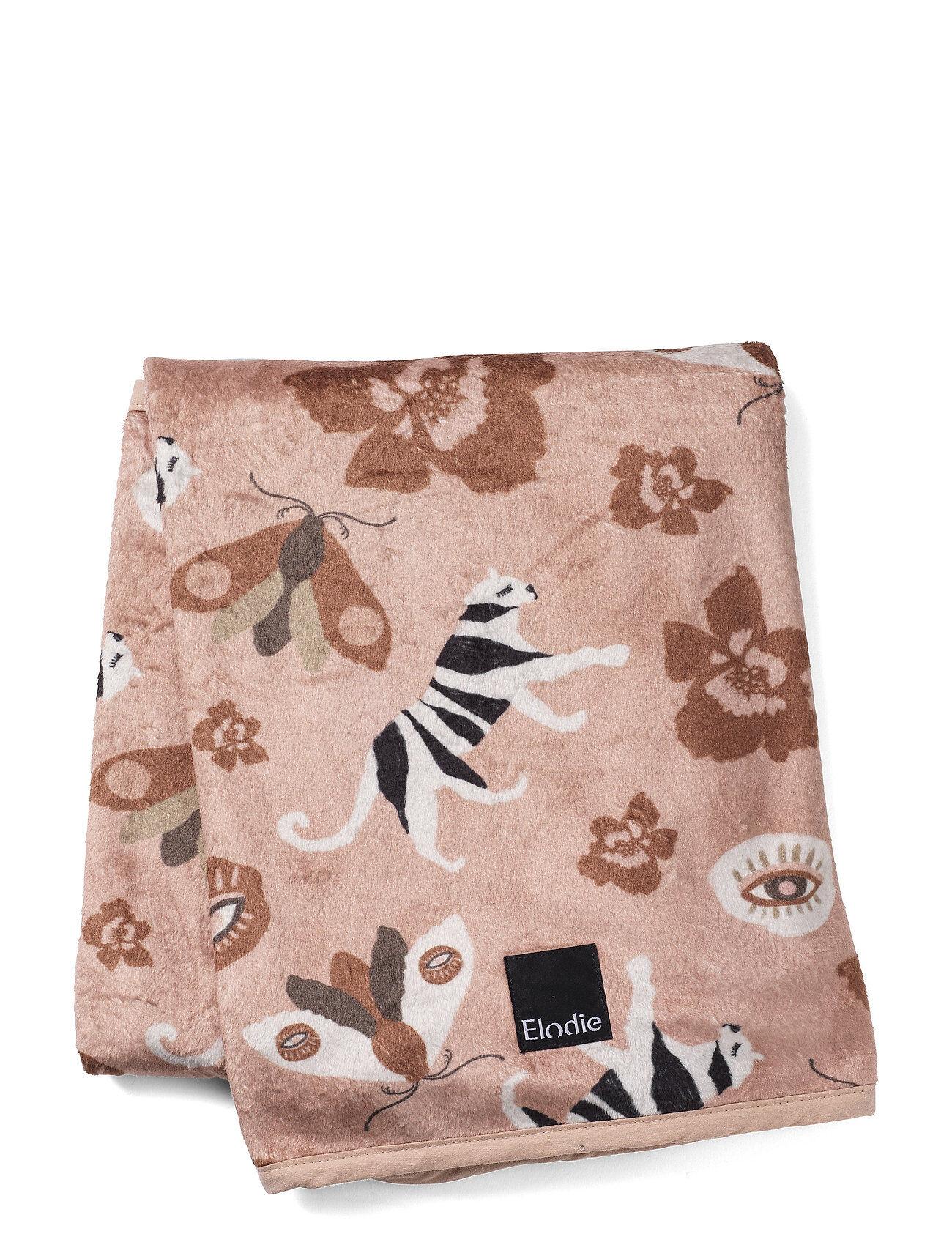Elodie Details Pearl Velvet Blanket - Midnight Eye Home Sleep Time Blankets & Quilts Vaaleanpunainen Elodie Details