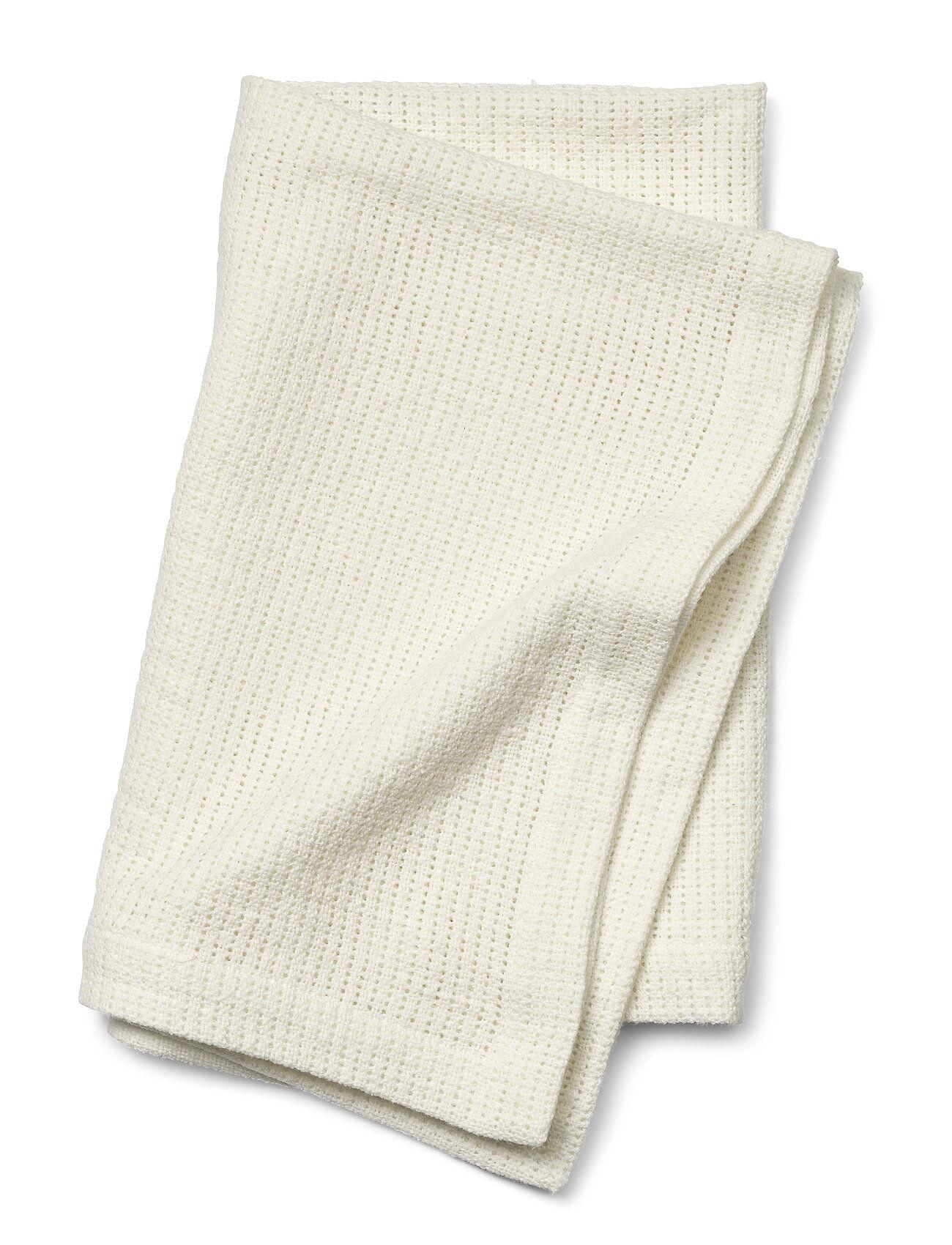 Elodie Details Cellular Blanket - Vanilla White Home Sleep Time Blankets & Quilts Valkoinen Elodie Details