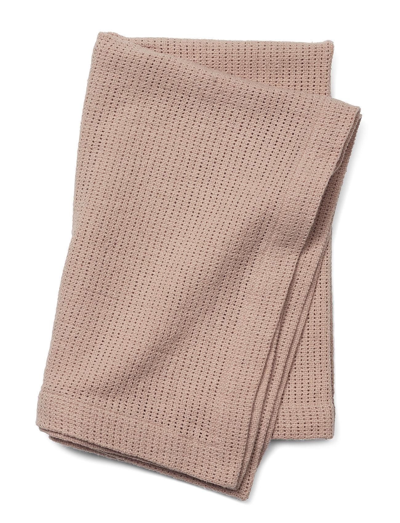 Elodie Details Cellular Blanket - Powder Pink Home Sleep Time Blankets & Quilts Vaaleanpunainen Elodie Details
