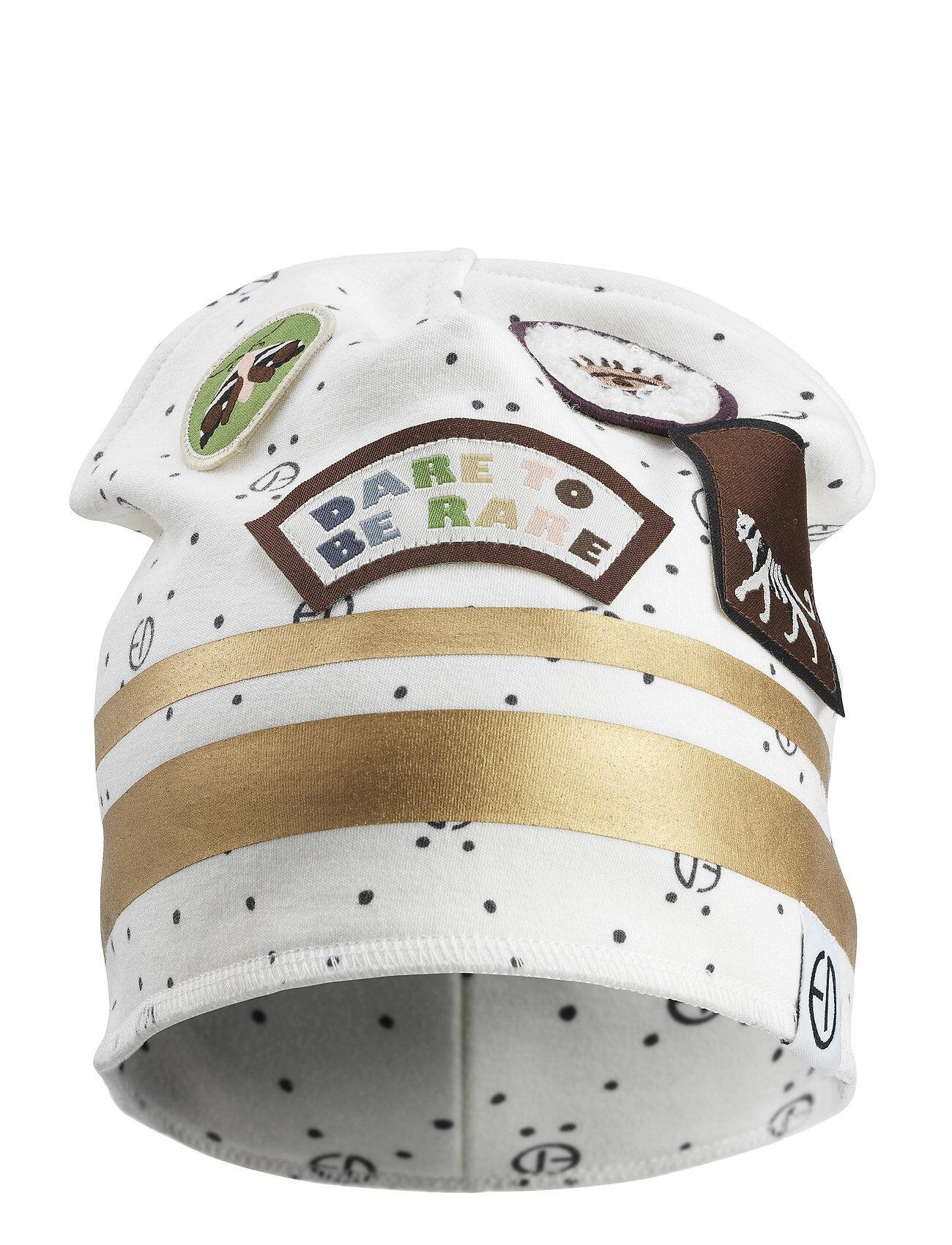Elodie Details Winter Beanie - Monogram Accessories Headwear Hats Valkoinen Elodie Details