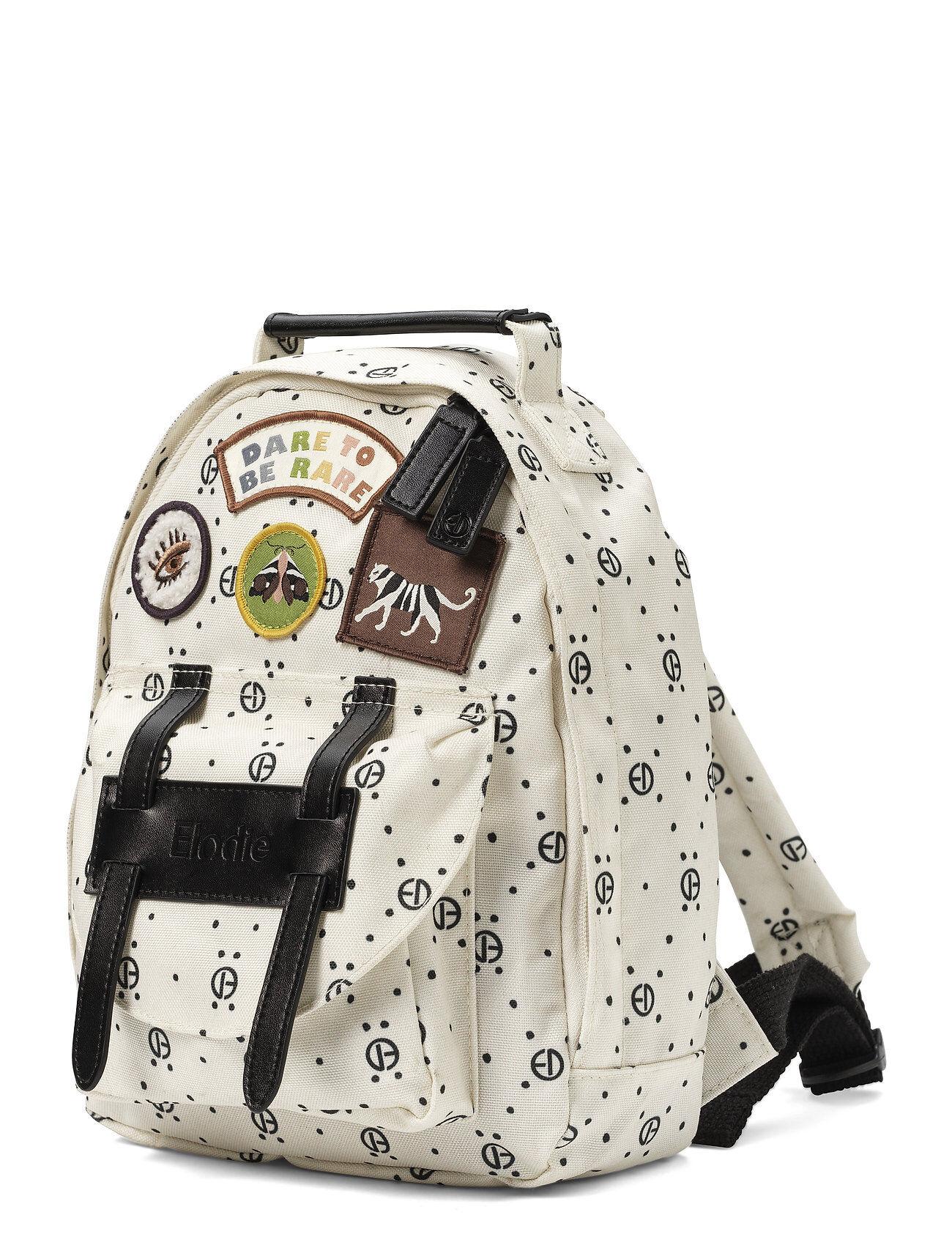 Elodie Details Backpack Mini™ - Monogram Accessories Bags Backpacks Valkoinen Elodie Details