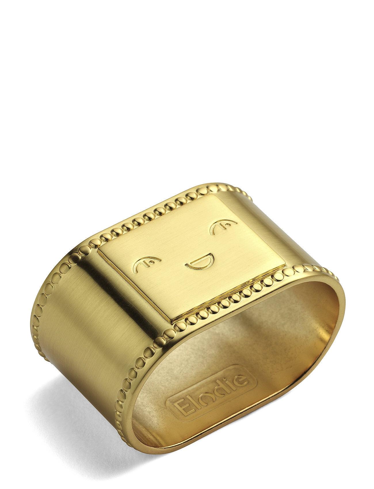 Elodie Details Napkin Ring - Matt Gold/Brass Home Meal Time Napkins & Accessories Kulta Elodie Details