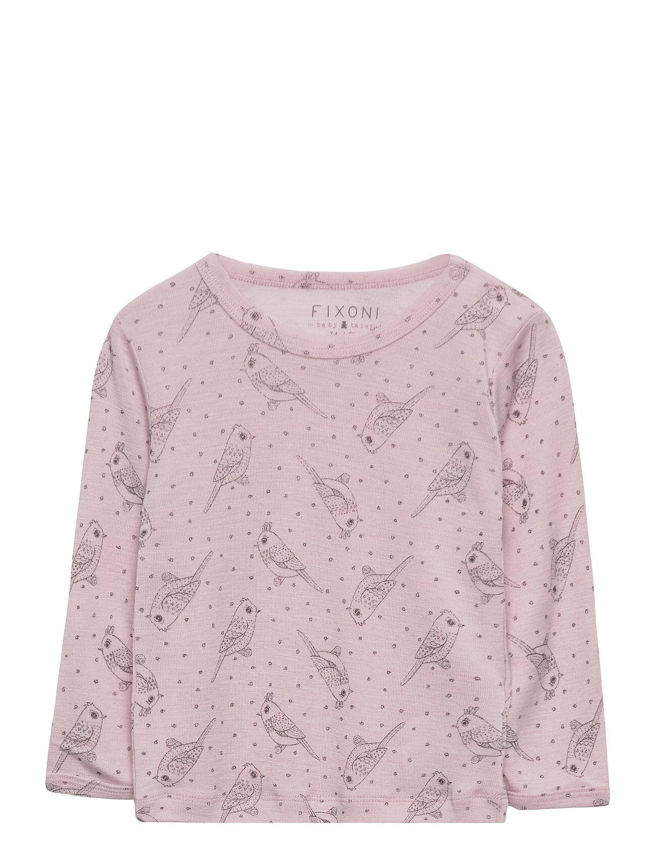 Fixoni Joy Ls T-Shirt - Oekotex T-shirts Long-sleeved T-shirts Vaaleanpunainen Fixoni