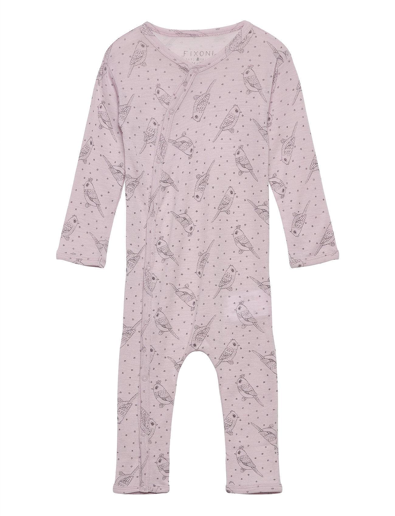 Fixoni Joy Ls Suit - Oekotex Jumpsuit Haalari Liila Fixoni