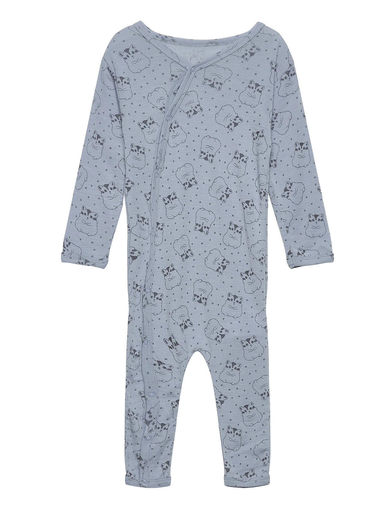 Fixoni Joy Ls Suit - Oekotex Jumpsuit Haalari Sininen Fixoni