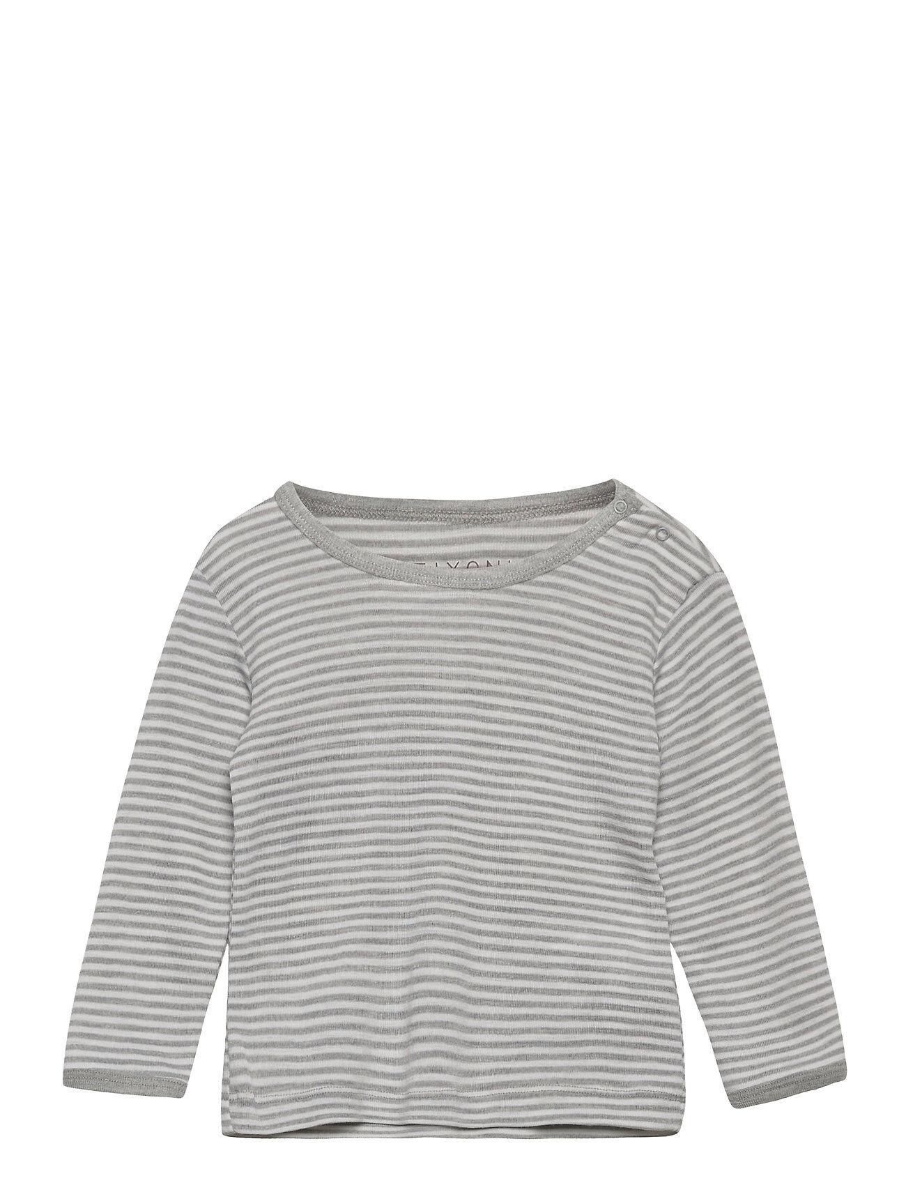 Fixoni Joy Ls T-Shirt - Oekotex T-shirts Long-sleeved T-shirts Harmaa Fixoni