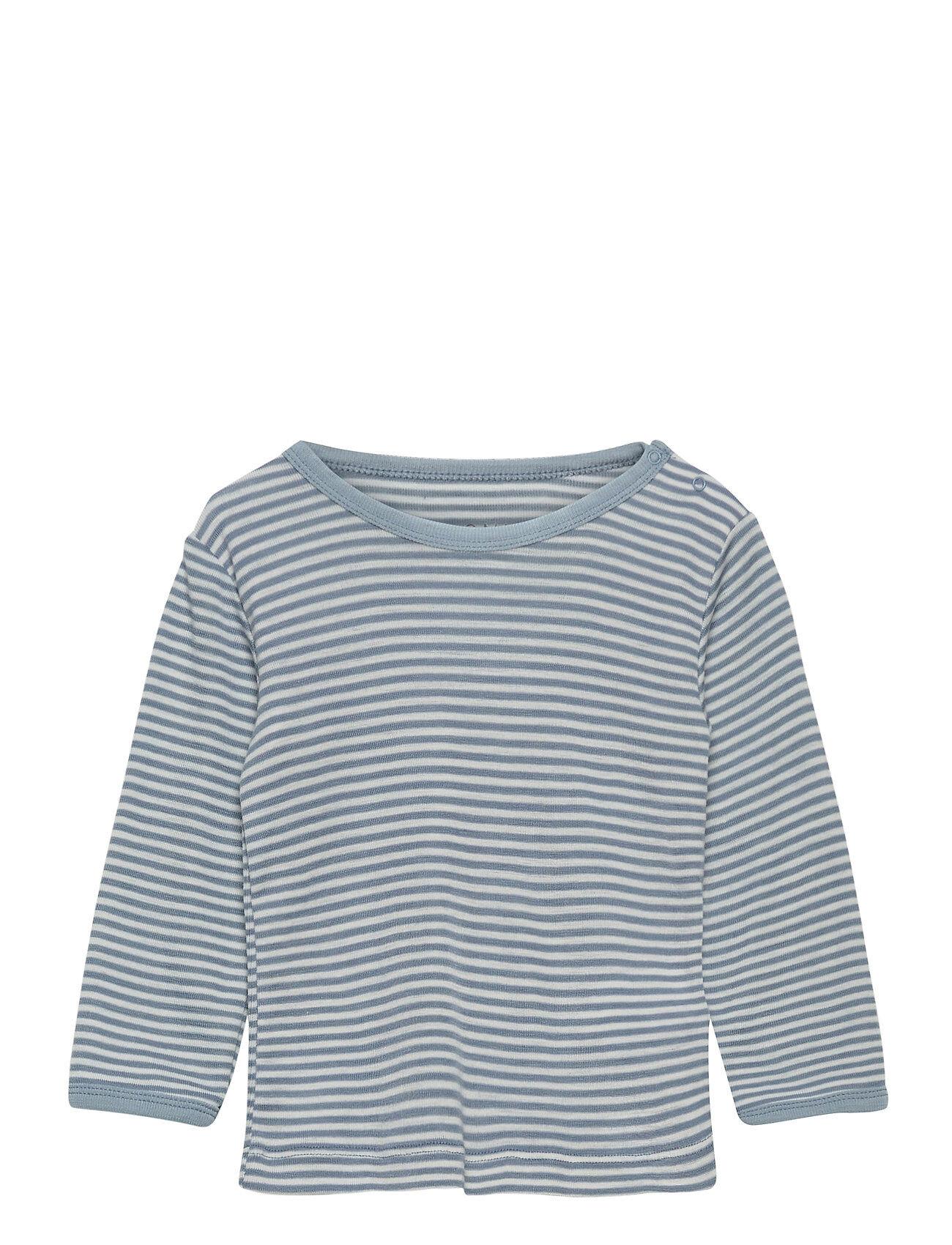 Fixoni Joy Ls T-Shirt - Oekotex T-shirts Long-sleeved T-shirts Sininen Fixoni