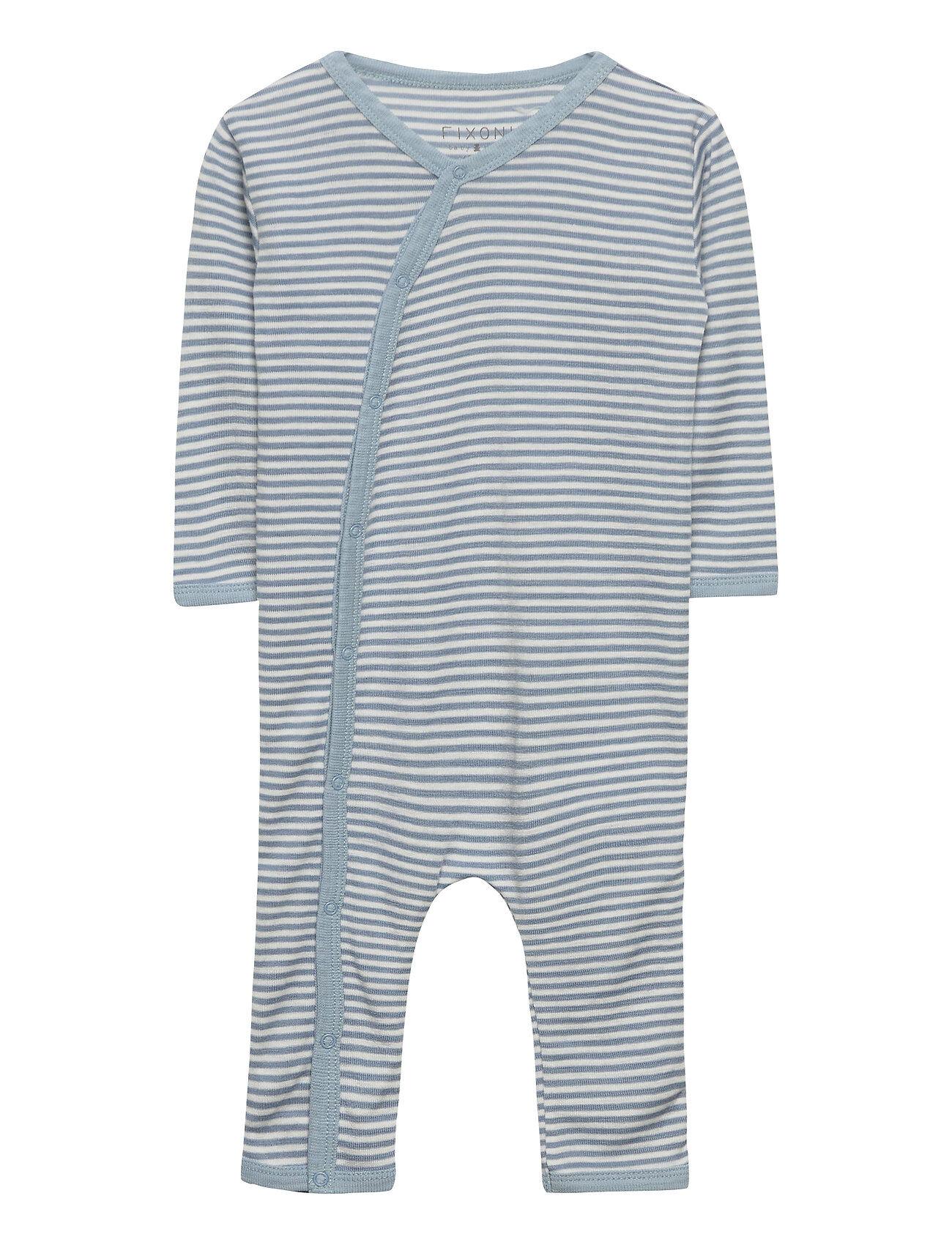 Fixoni Joy Ls Suit - Oekotex Pitkähihainen Body Sininen Fixoni