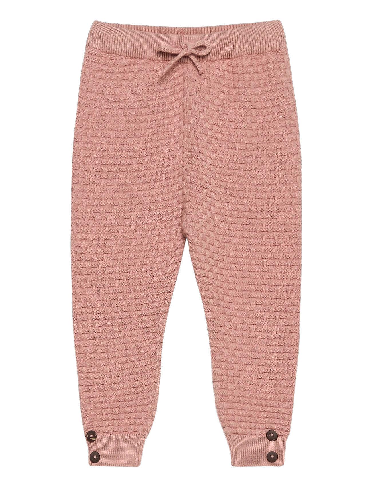 Fixoni Knit Pants - Gots Housut Vaaleanpunainen Fixoni