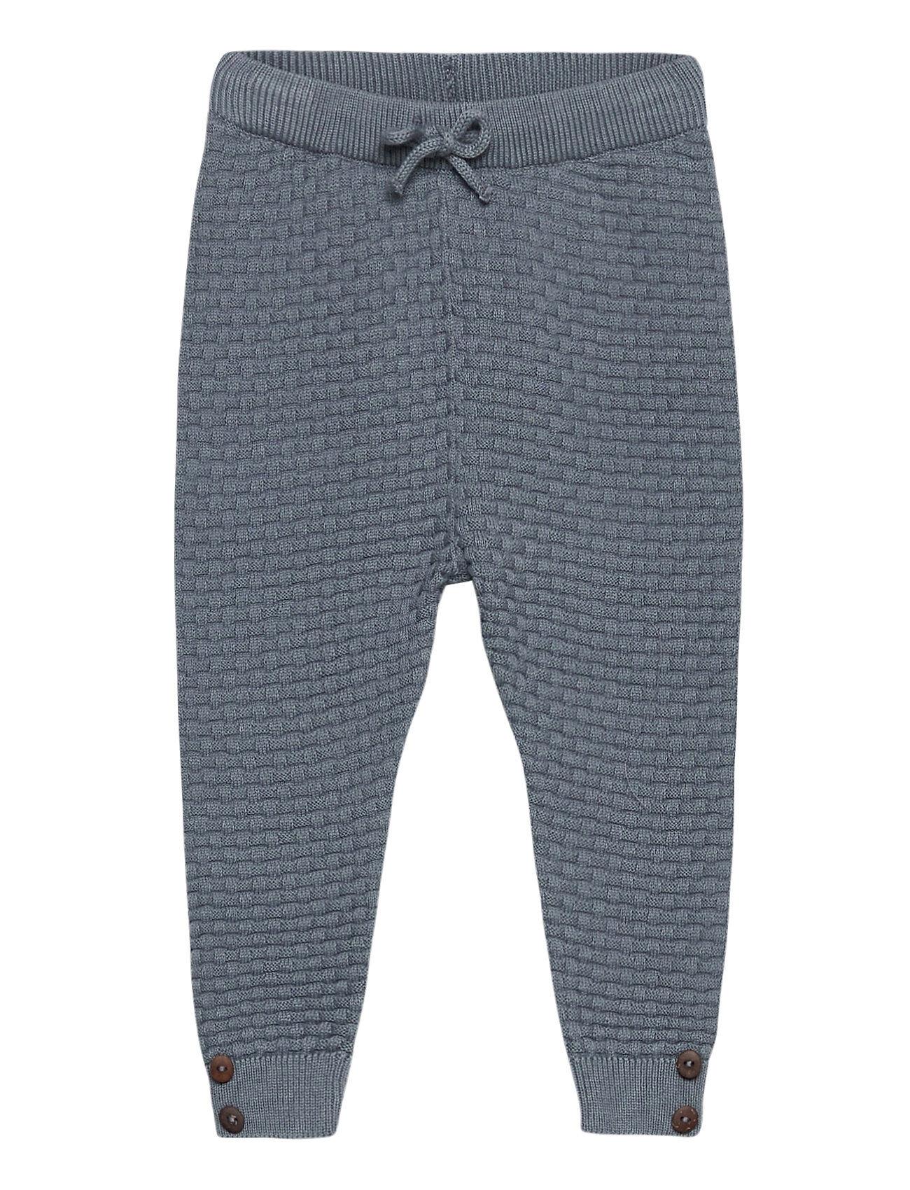 Fixoni Knit Pants - Gots Housut Sininen Fixoni