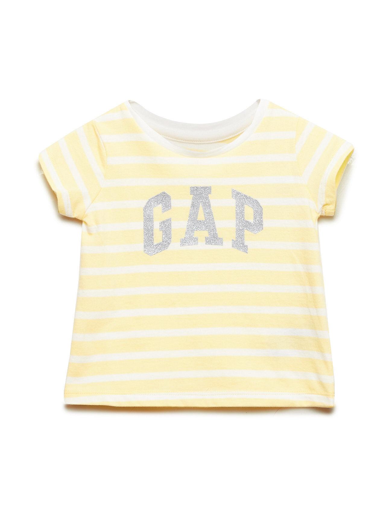 GAP Sh Jpn Excl Golden Wk Gr T T-shirts Short-sleeved Keltainen