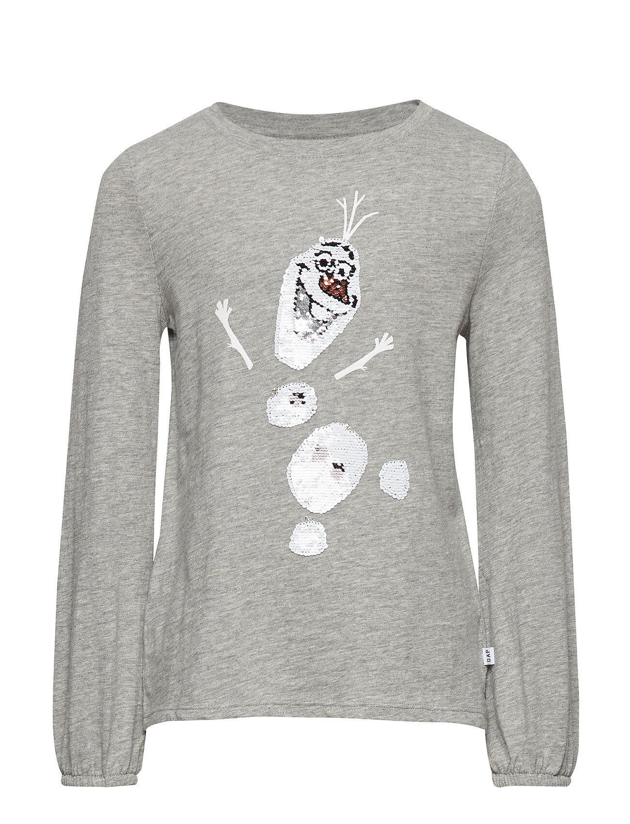 Gapkids   Disney Frozen 2 Sequin T-Shirt T-shirts Long-sleeved T-shirts Harmaa GAP