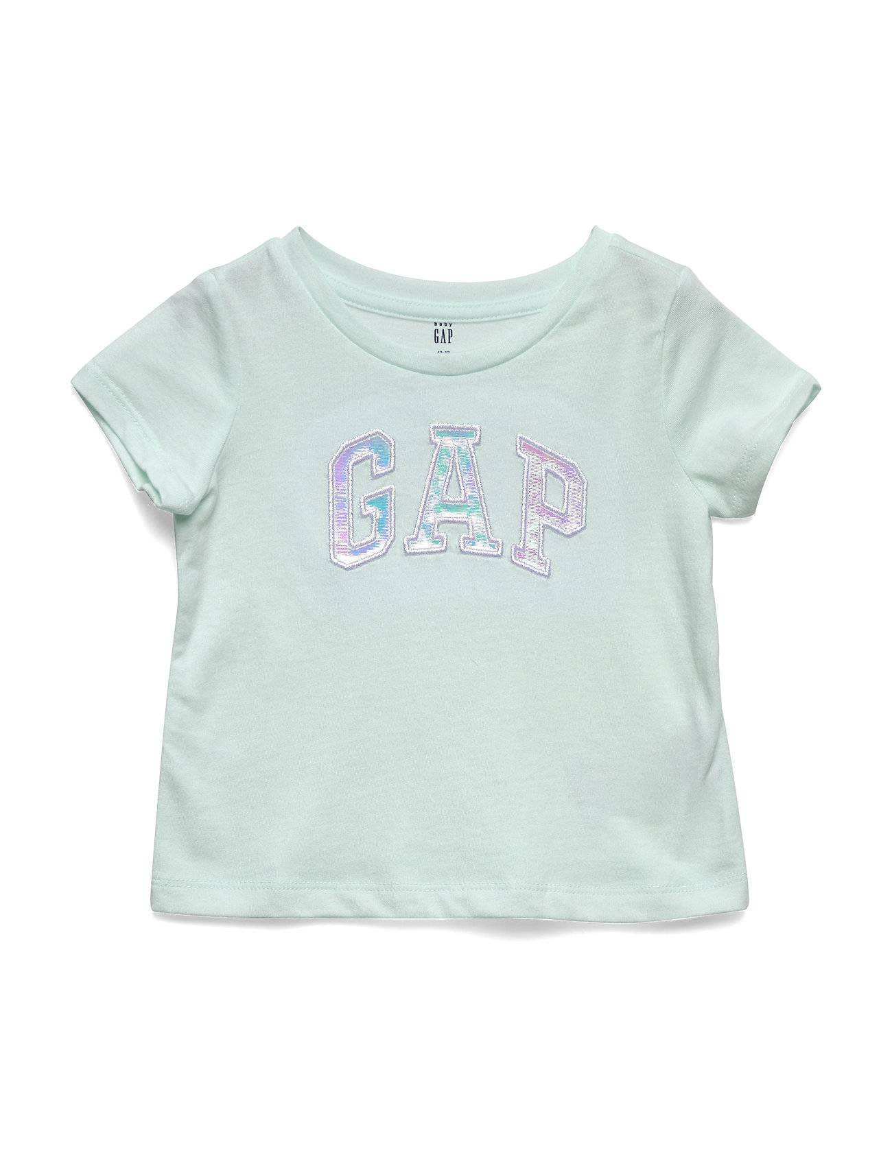 GAP Ss Intr Logo T-shirts Short-sleeved Sininen GAP