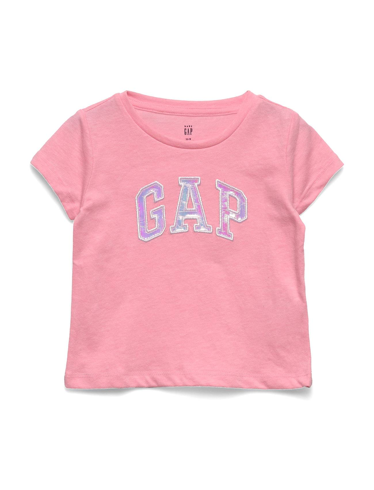 GAP Ss Intr Logo T-shirts Short-sleeved Vaaleanpunainen GAP